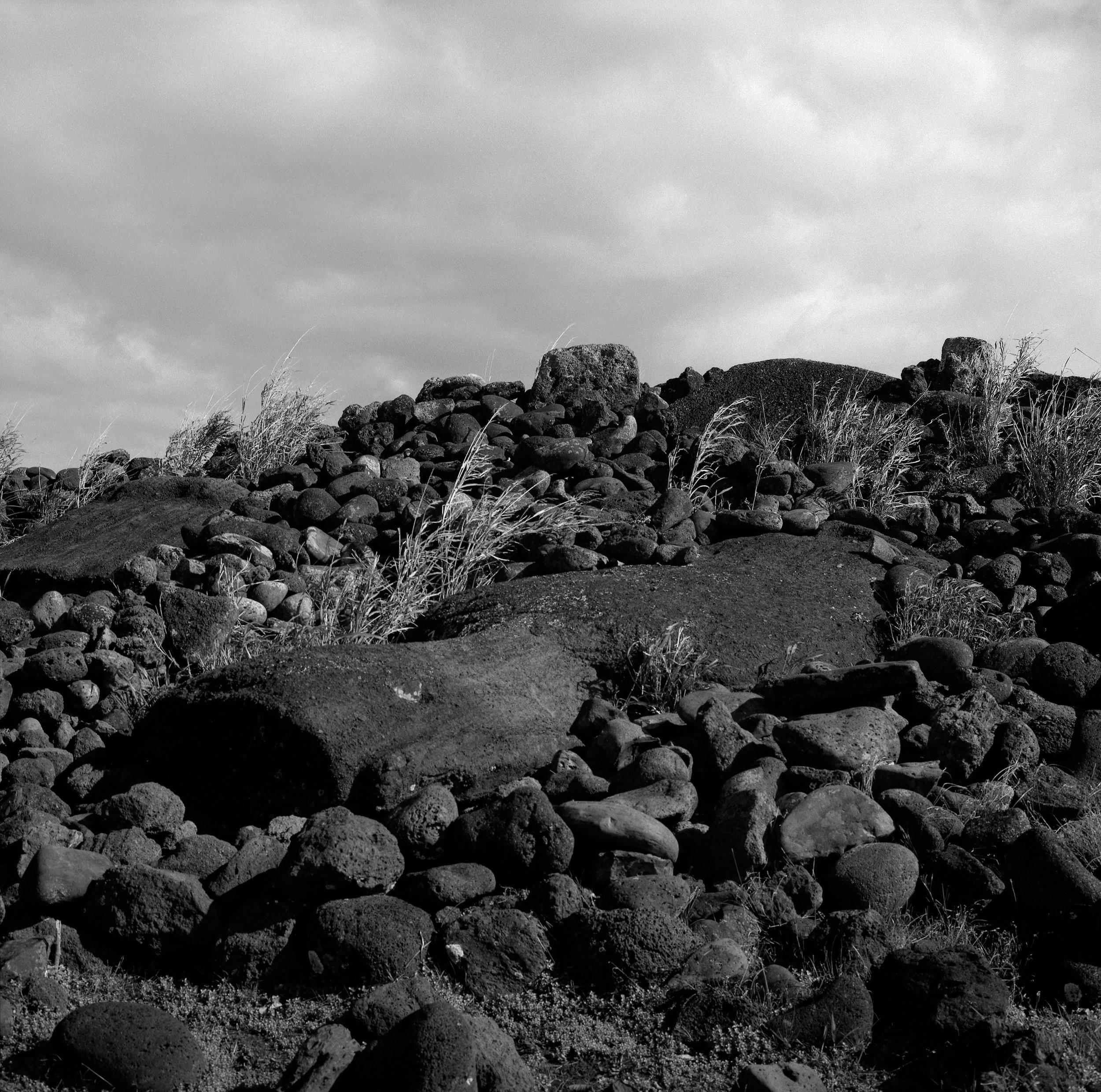 Toppled Moai, Easter Island