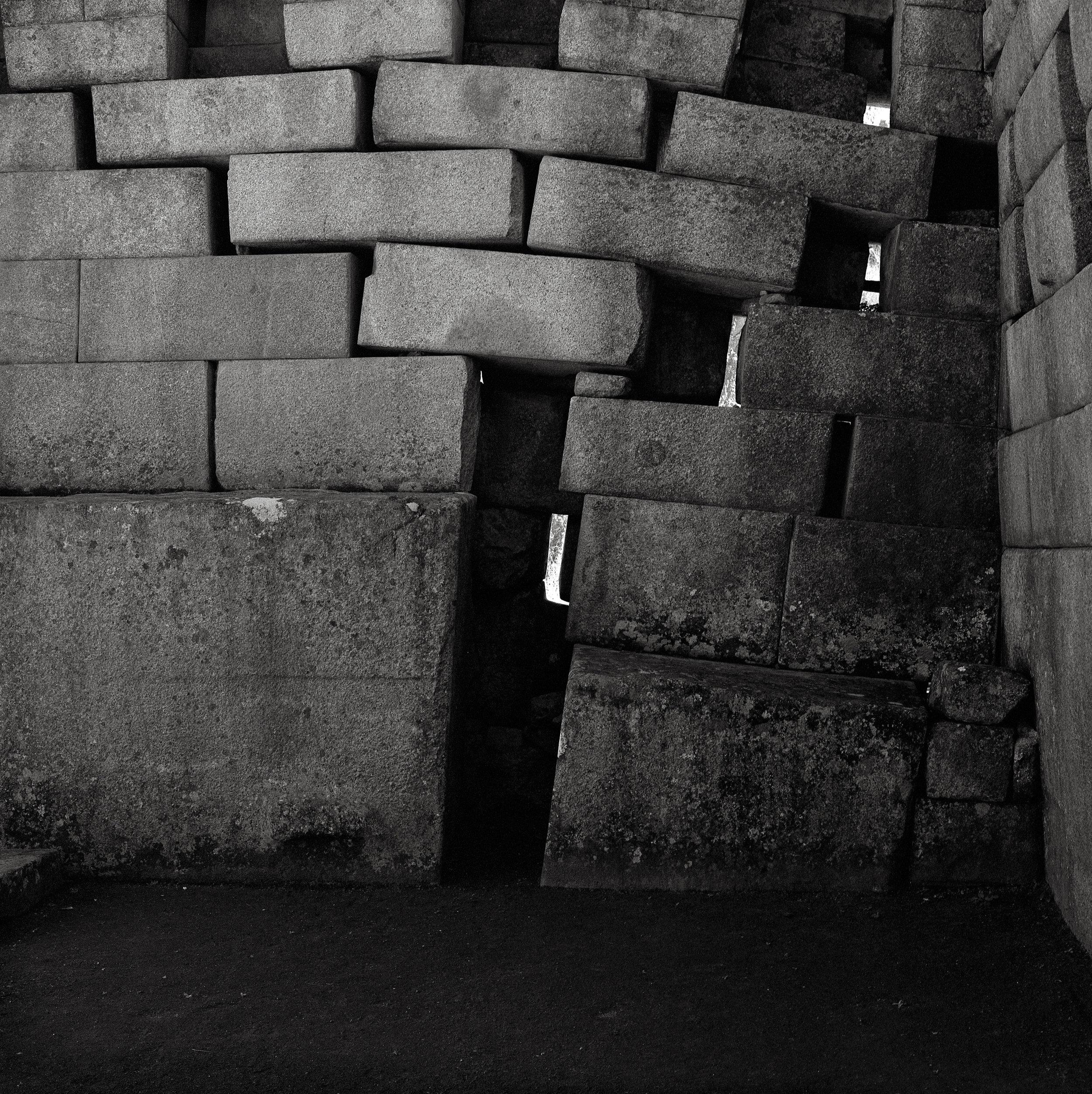 Shifted Stones, the Main Temple, Machu Picchu