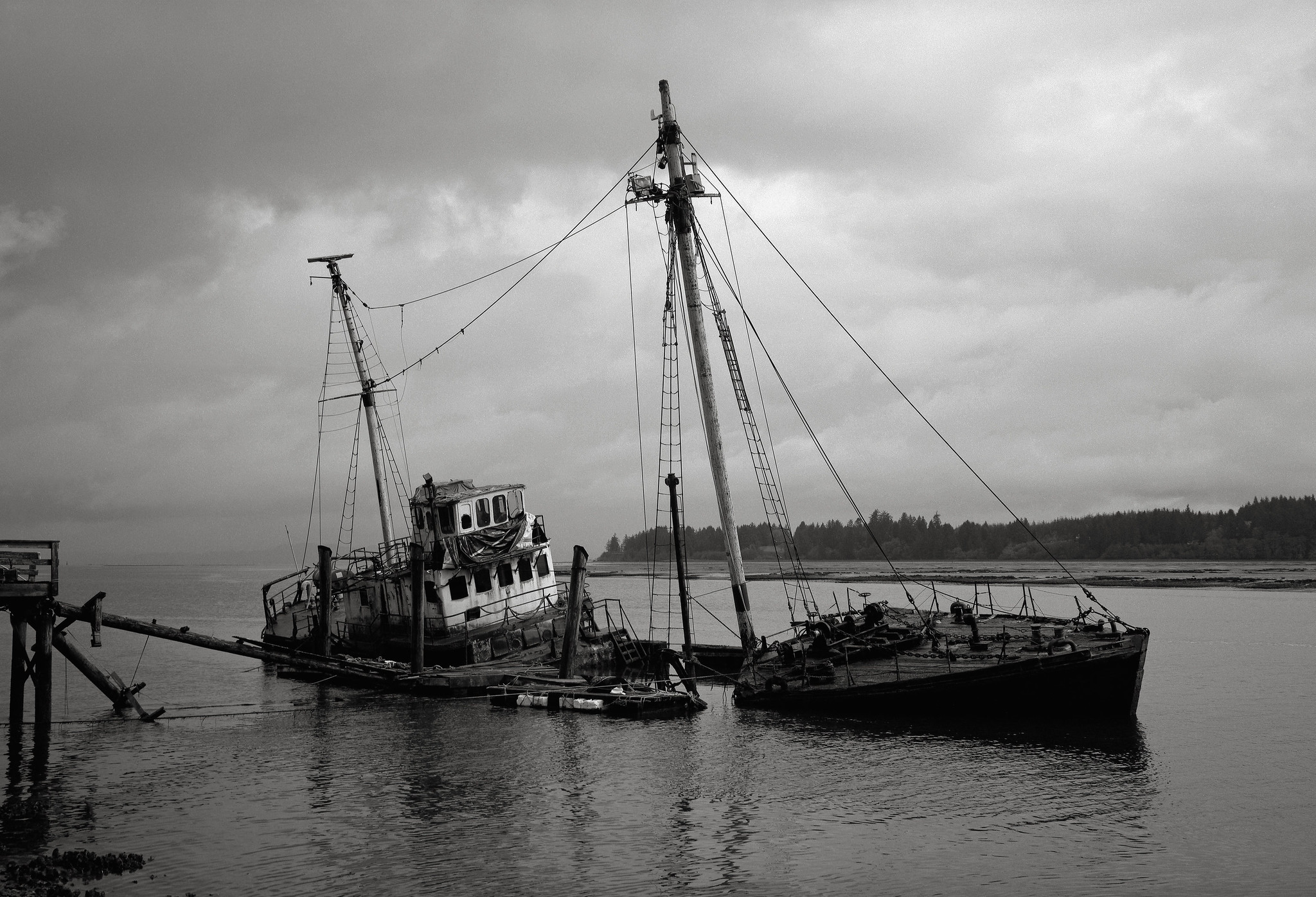 The Research Vessel 'Hero,' Palix River, Washington