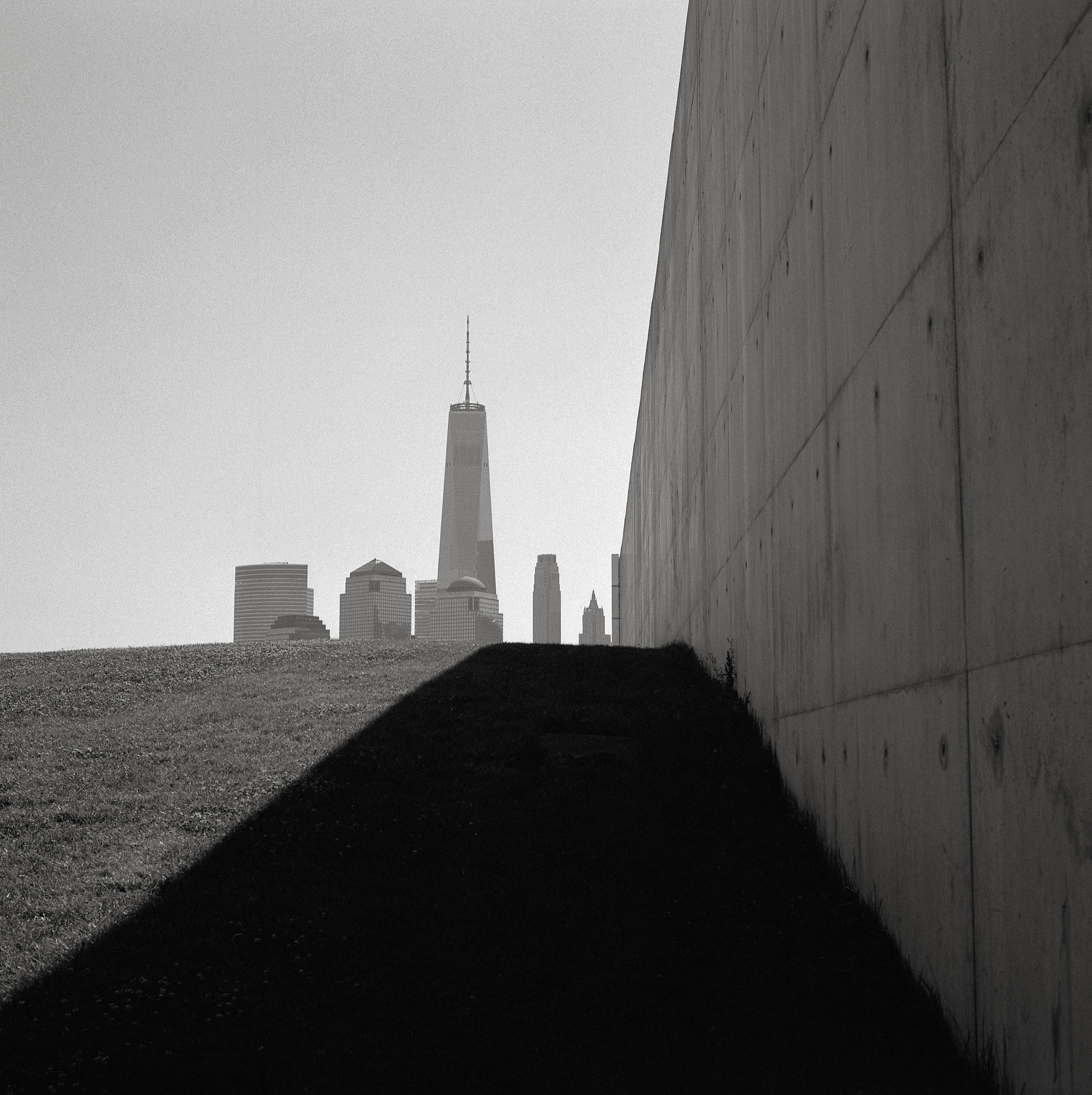 Shadow, 9/11 Empty Sky Memorial, Liberty State Park, New Jersey