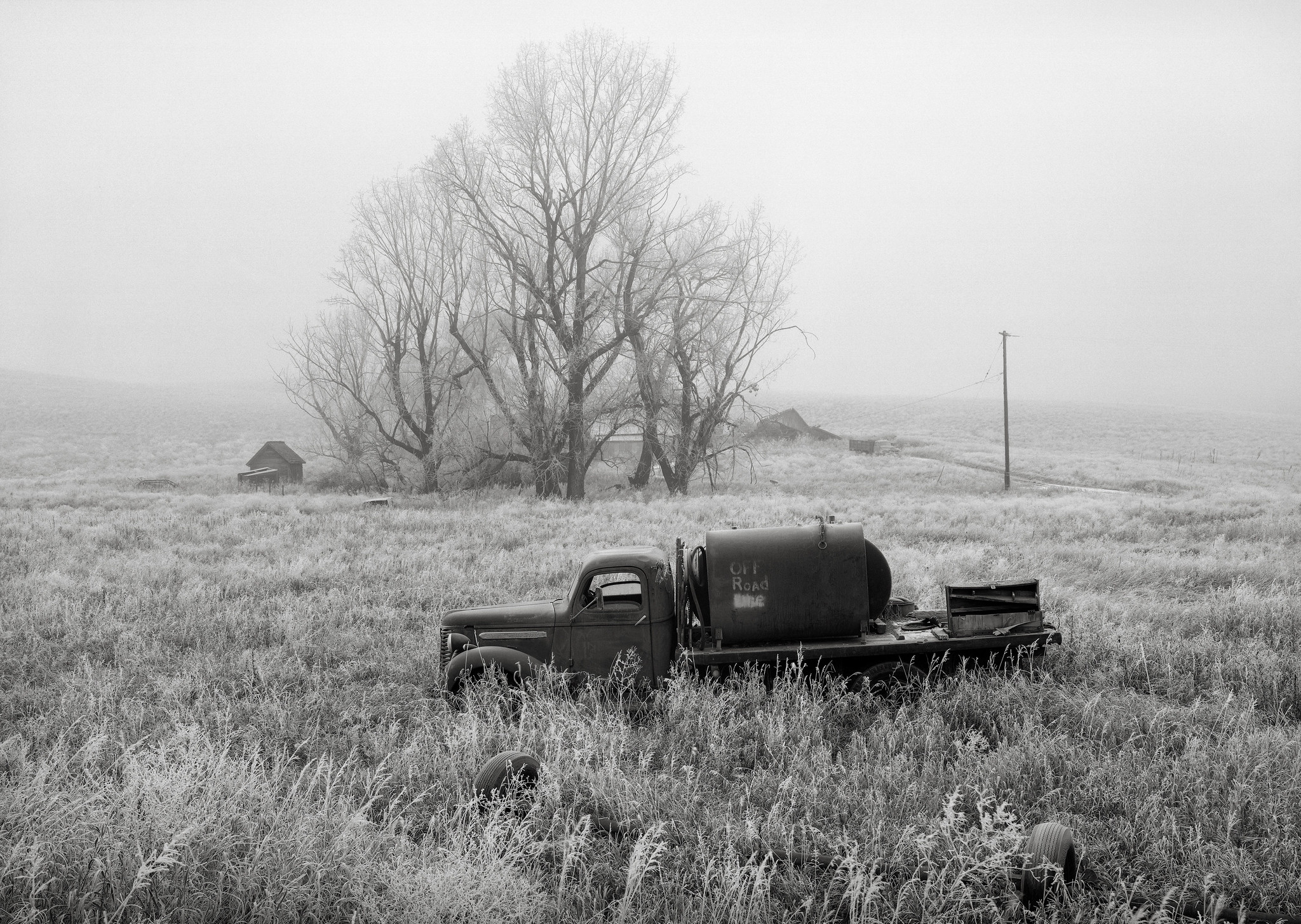 Truck, Abandoned Farmhouse