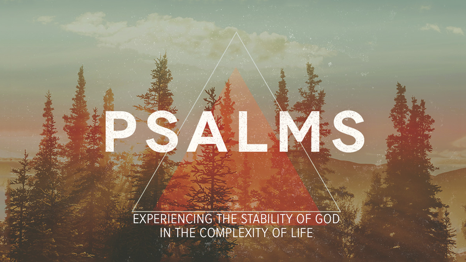 In these 8 weeks we will look at how we experience the stability of God in the complexity of life.