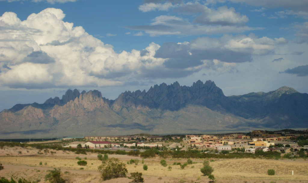 Las Cruces and the Organ Mountains. Photo credit:  Tony Hoffarth