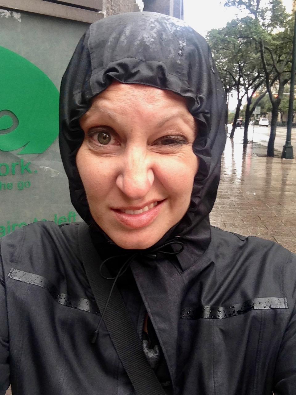 "Me, ""Enjoying"" the Rain"