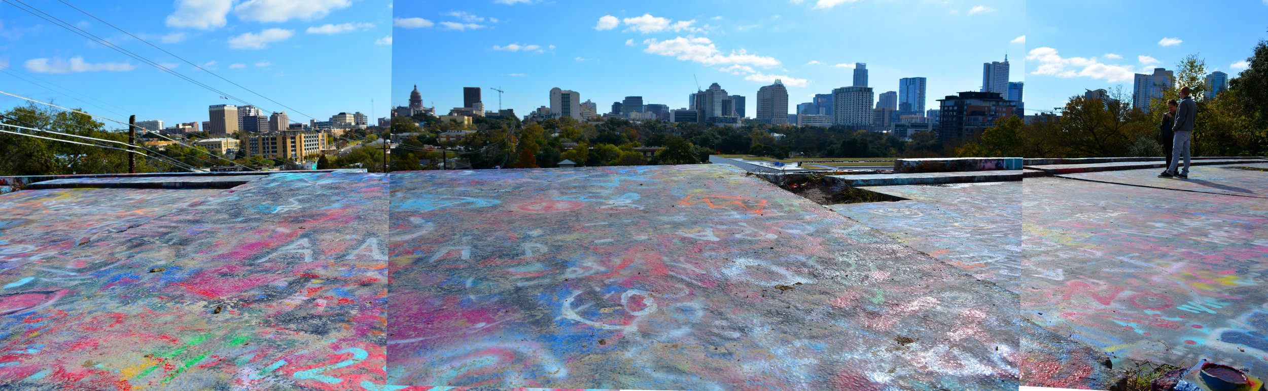 The city view from HOPE Outdoor Gallery