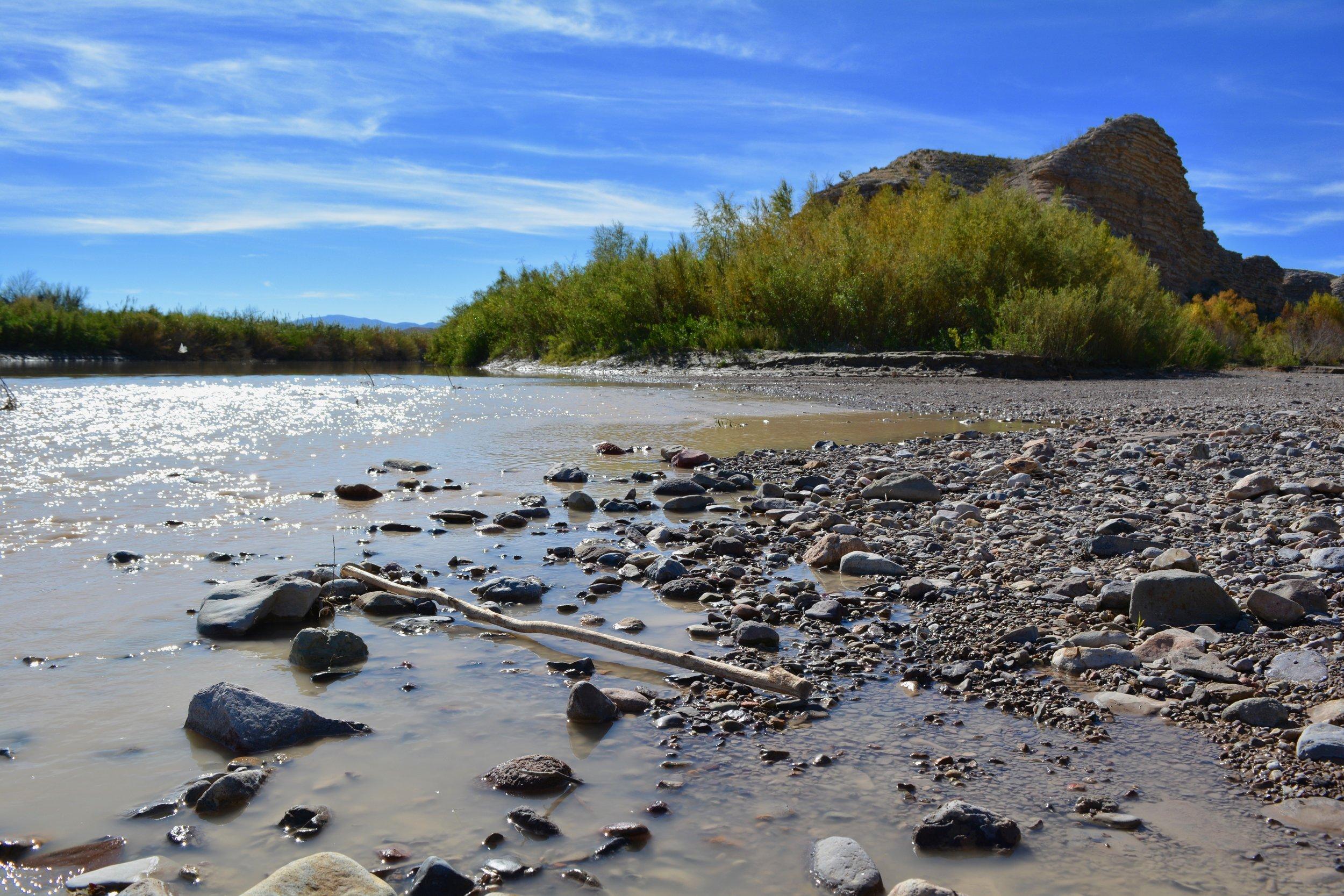 The Rio Grande River near Hot Springs