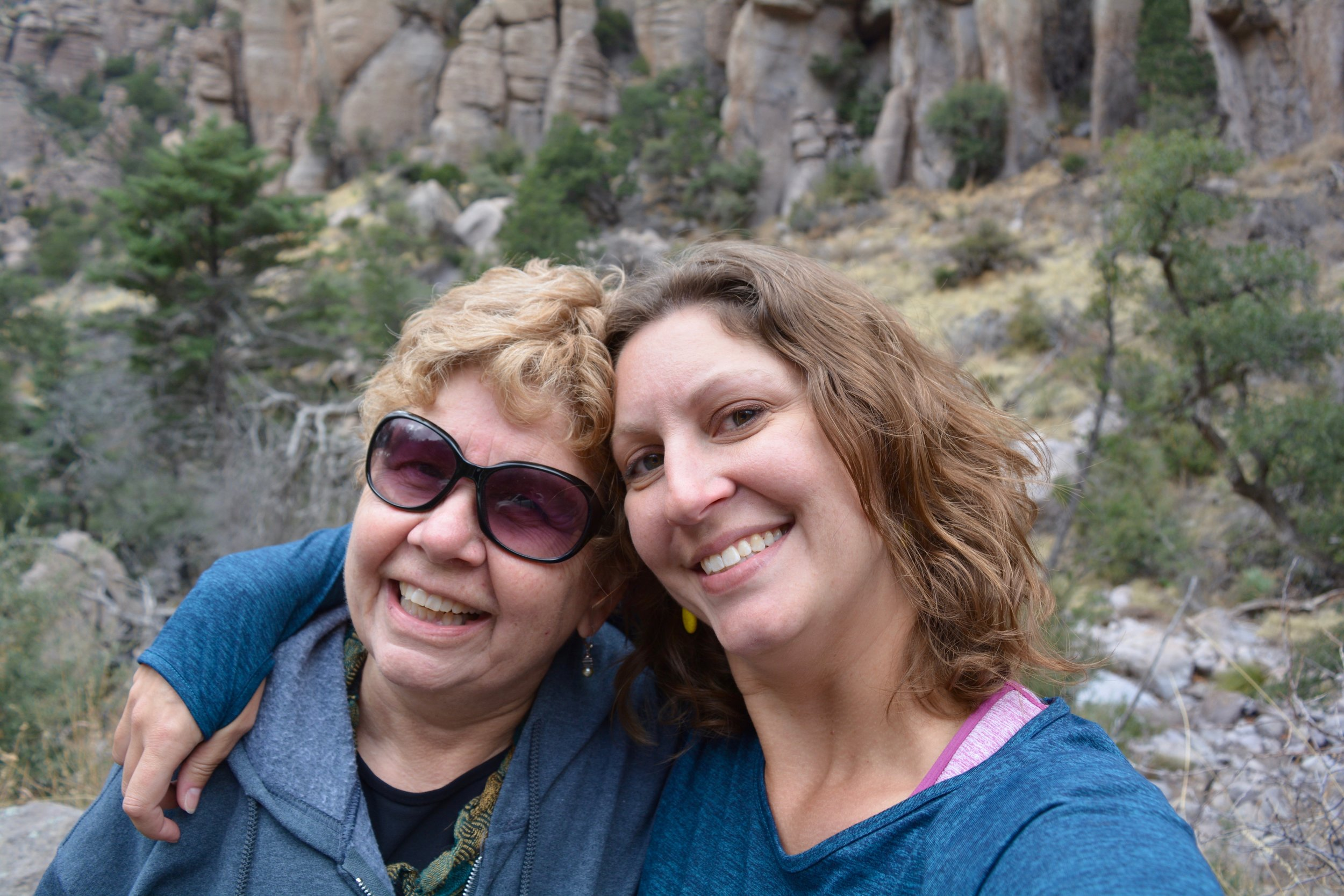 Mom and me at Chiricahua National Monument
