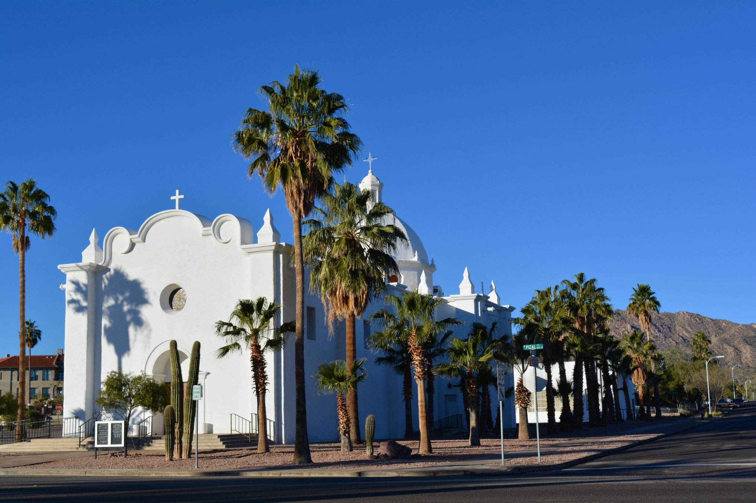 One of Ajo's two lovely Spanish colonial churches