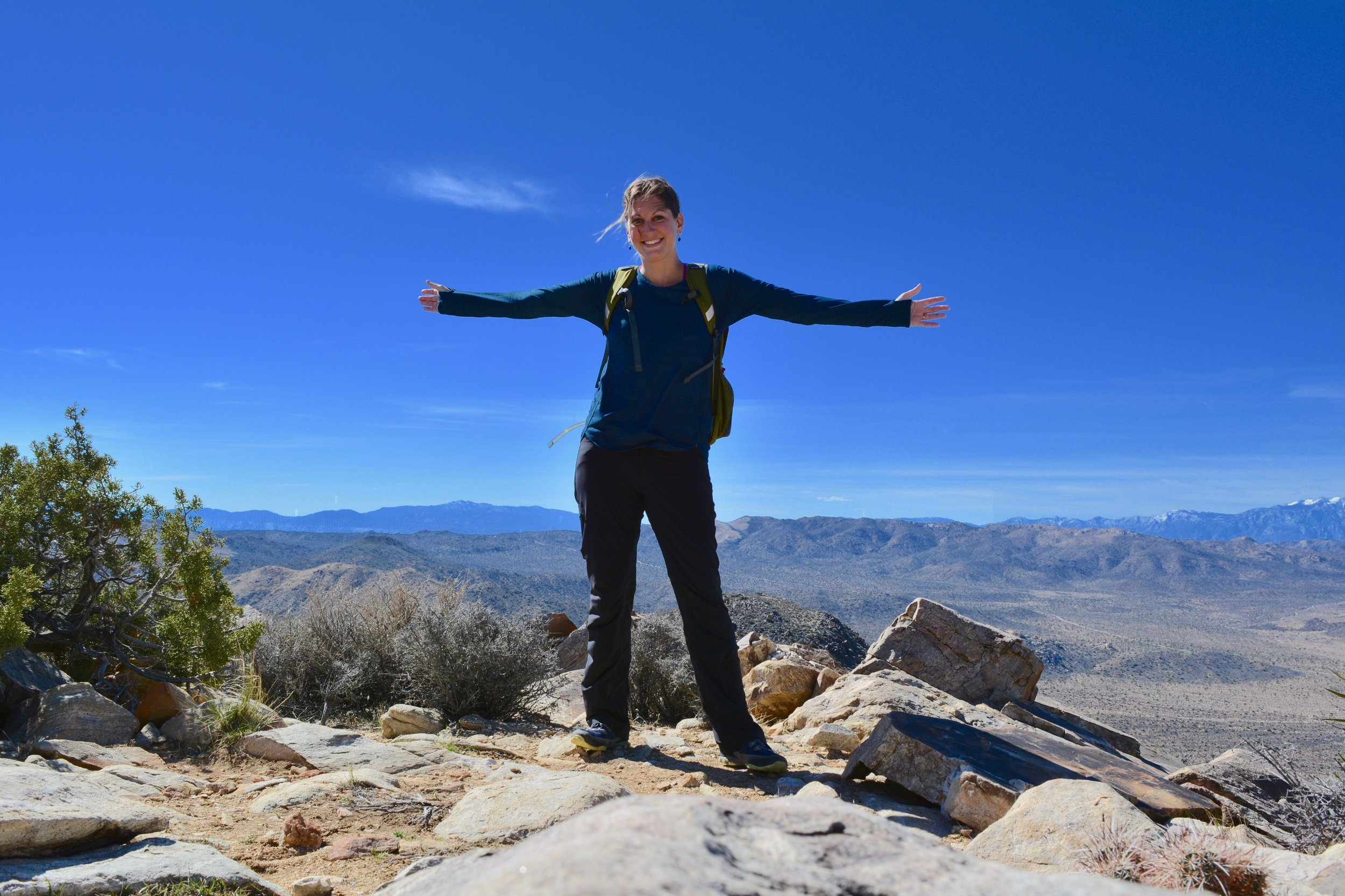Me, atop Ryan Mountain Peak