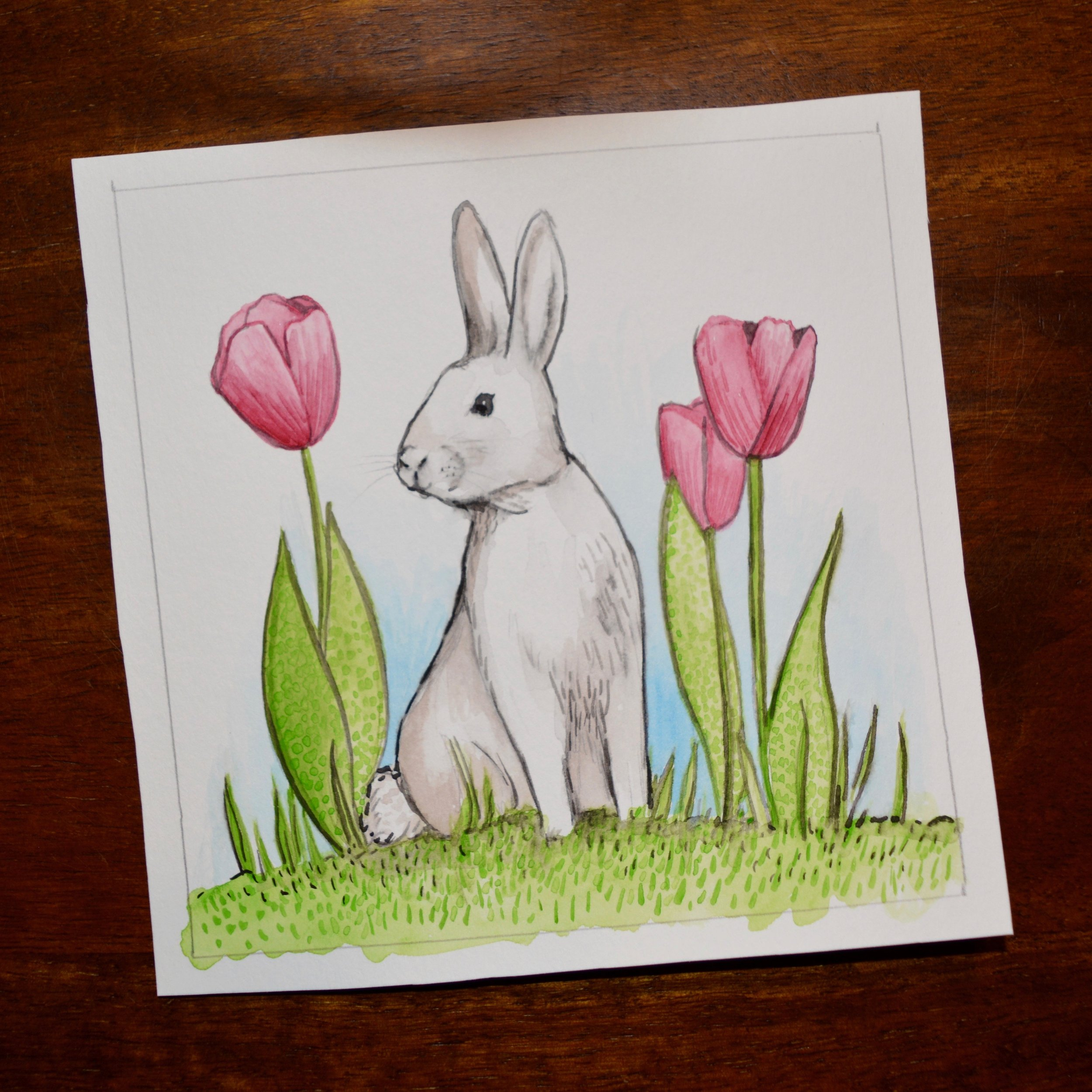 "Easter Giveaway ""Sketch"" Painting"