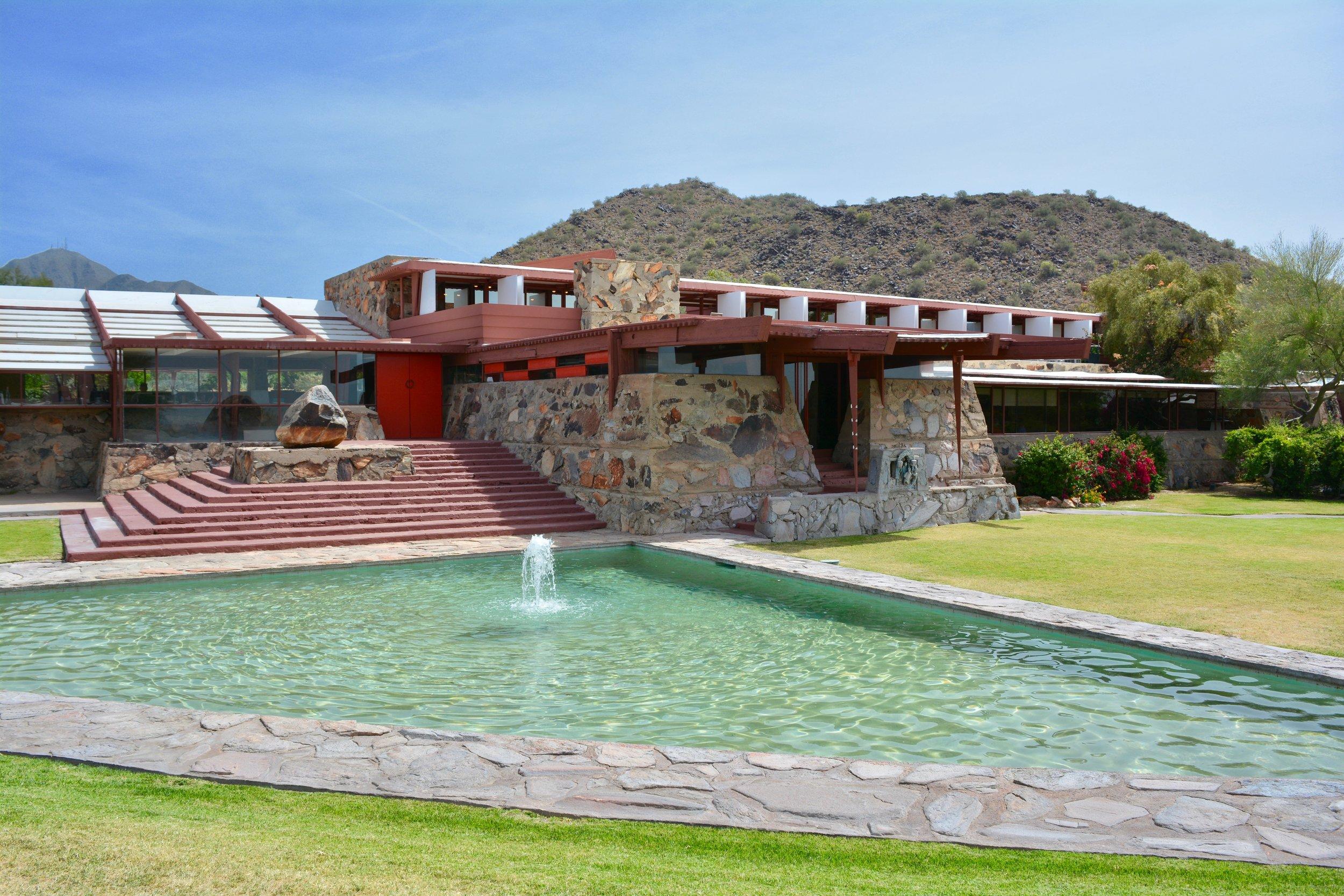 Frank Lloyd Wright's Taliesin West in Scottsdale, AZ