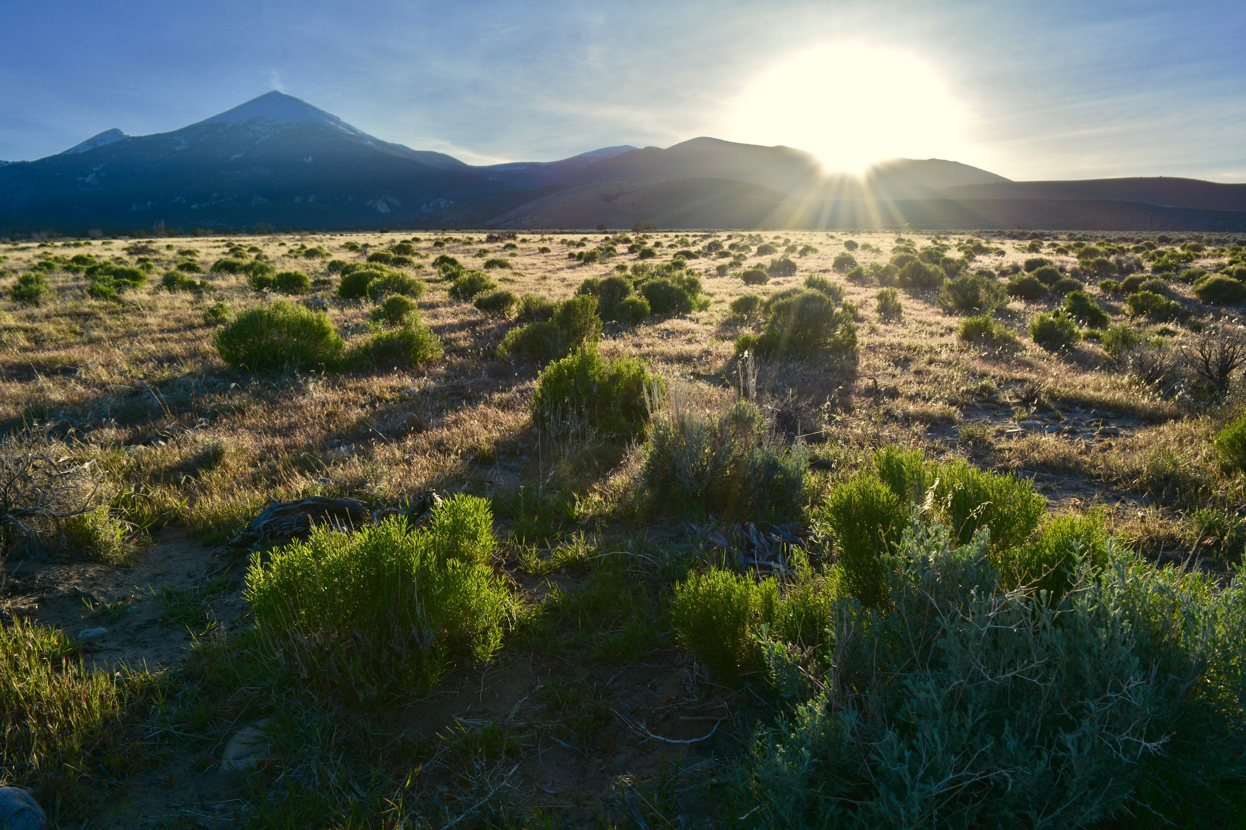 Sunset at Great Basin National Park entrance