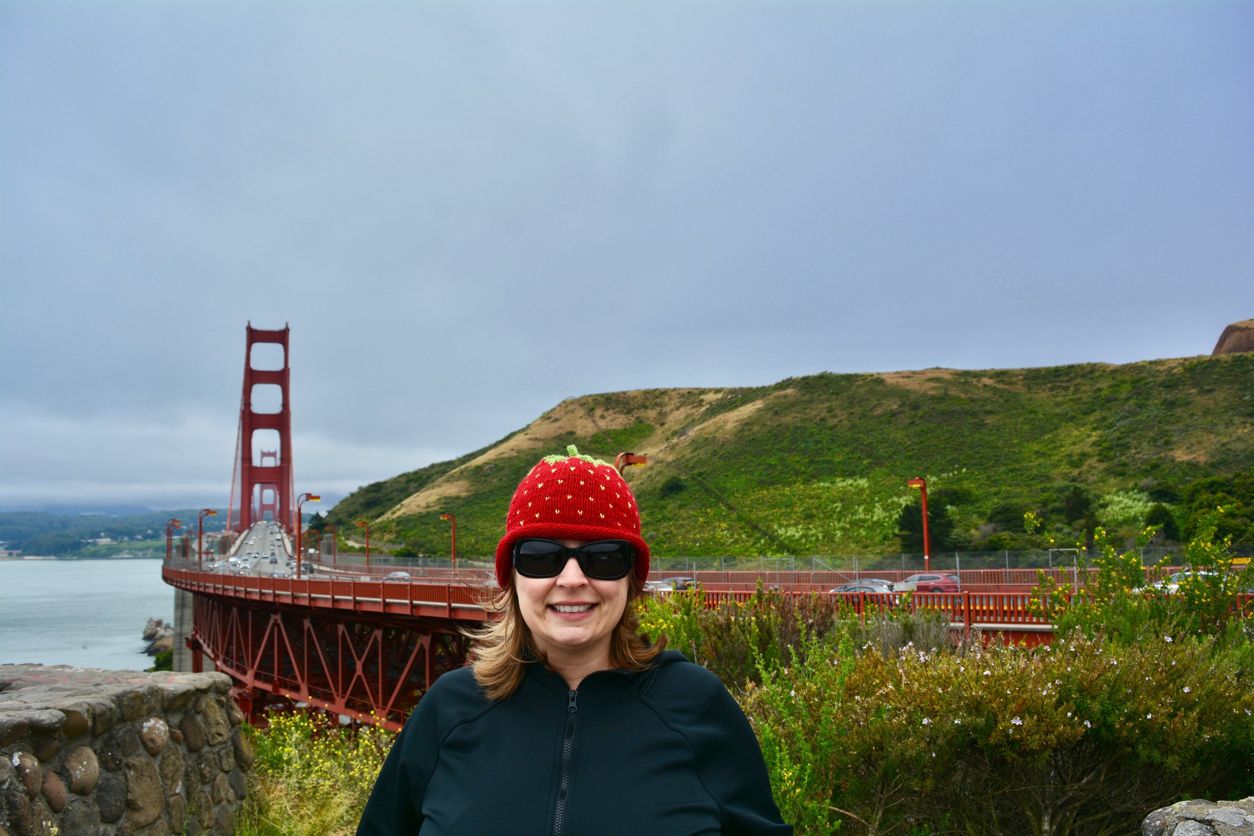 Kerri at the Golden Gate Bridge