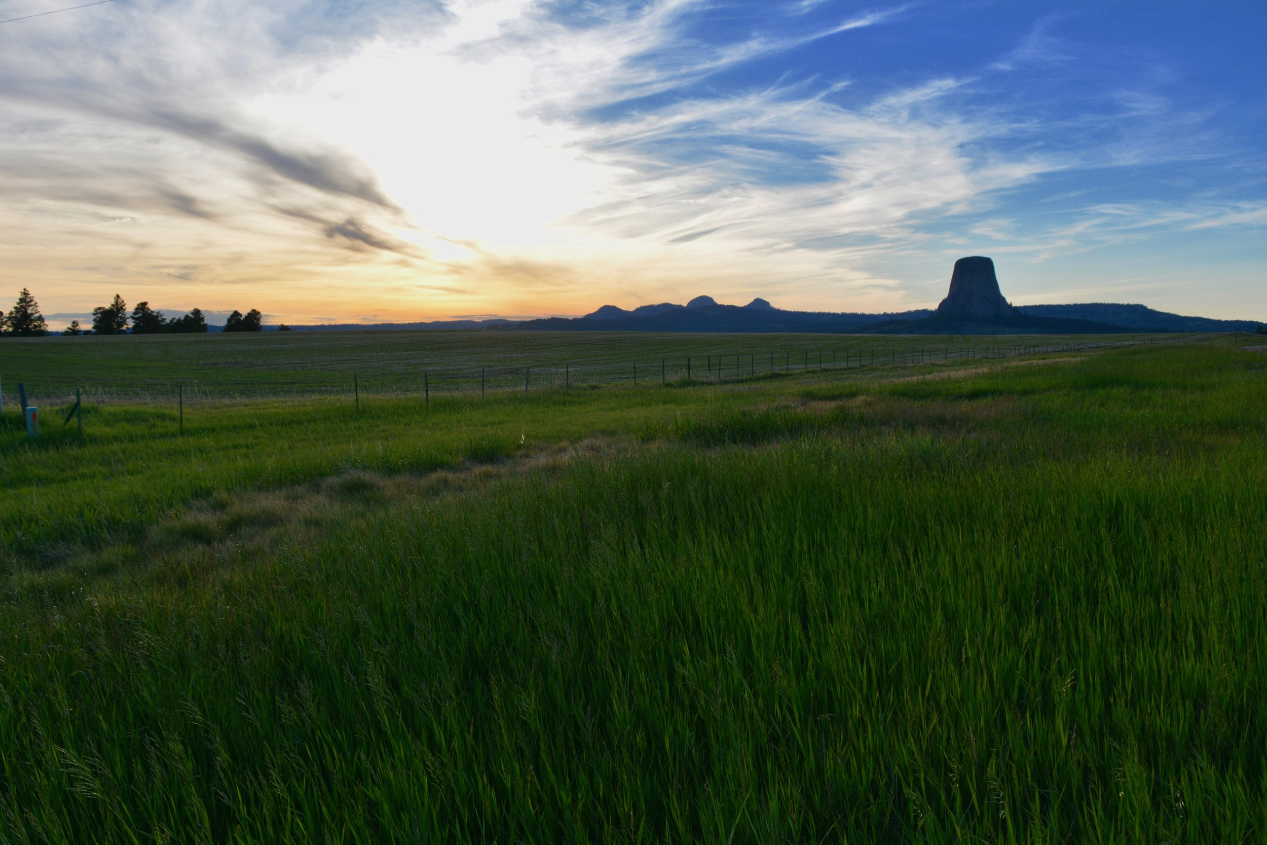 The sunset as I left Devils Tower National Monument