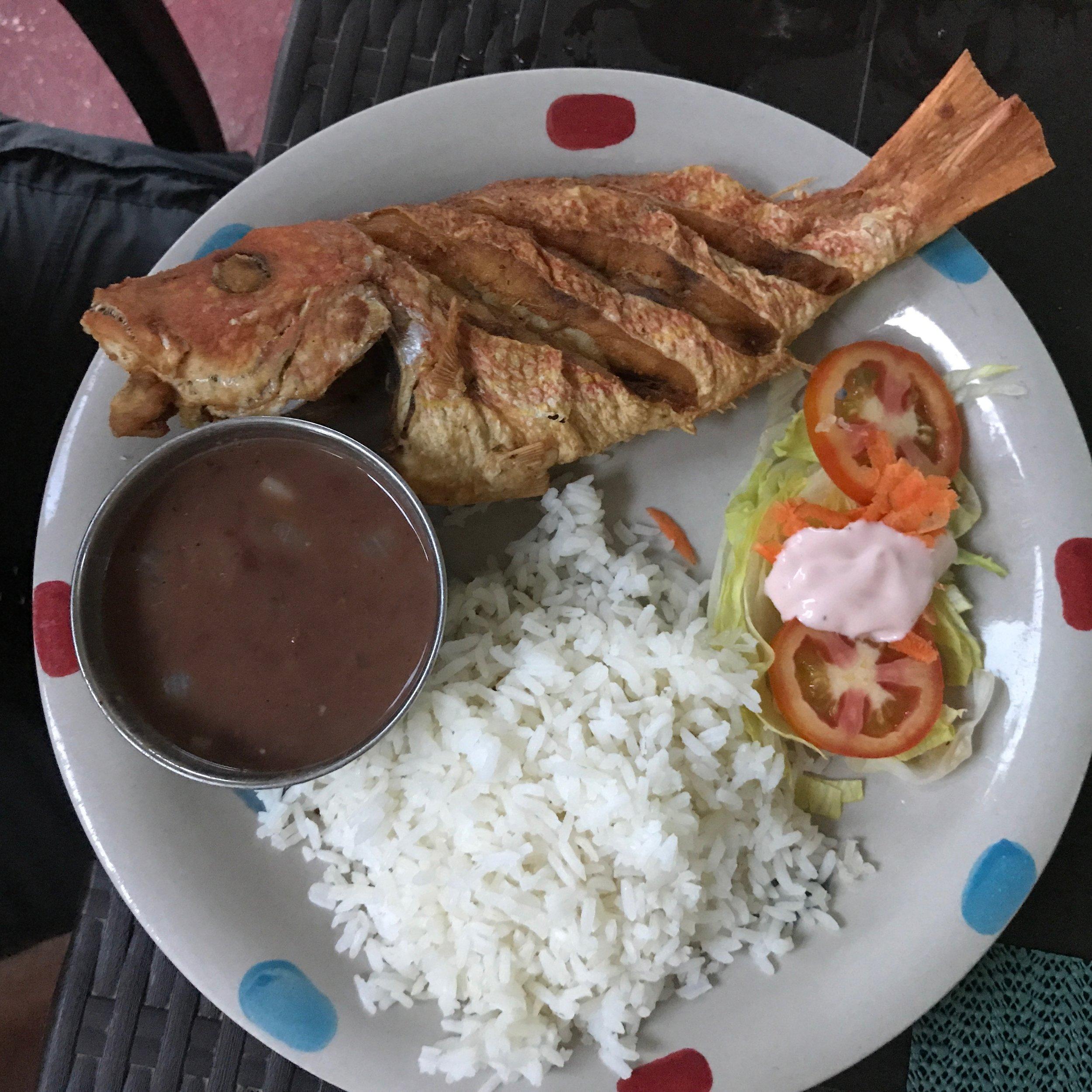 Aaron's fish dinner
