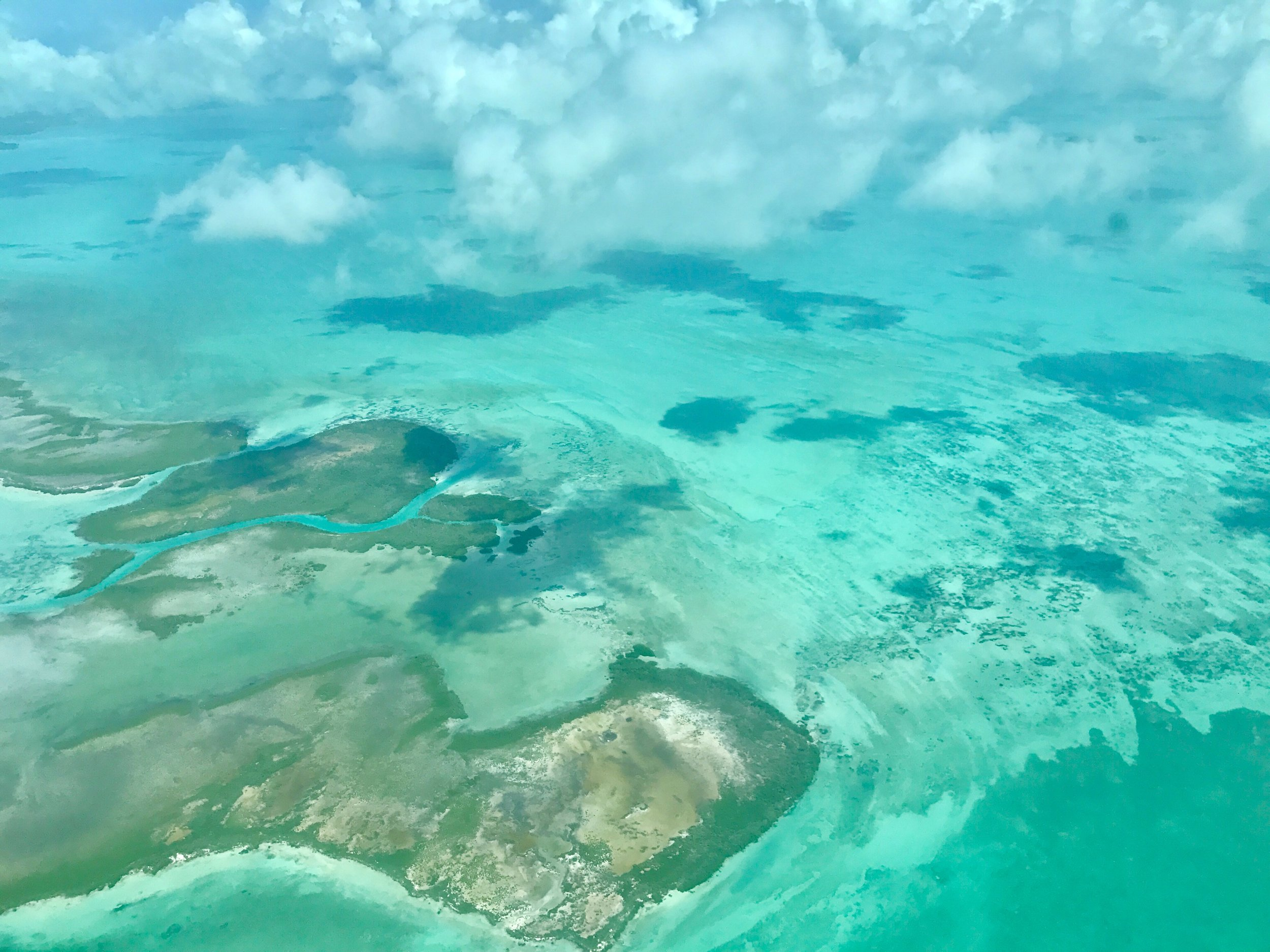 View from the plane as we crossed from Belize City to Ambergris Caye