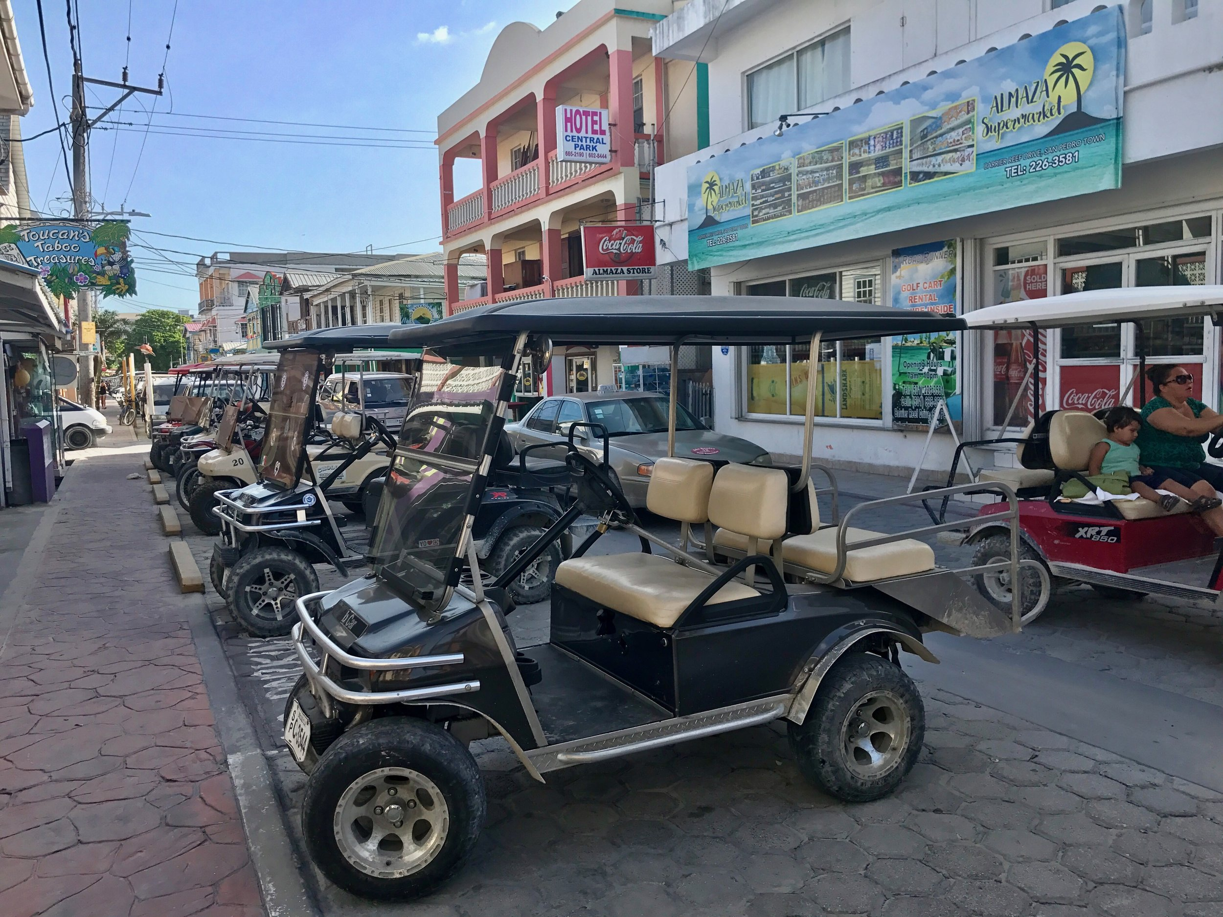 Golf carts in San Pedro