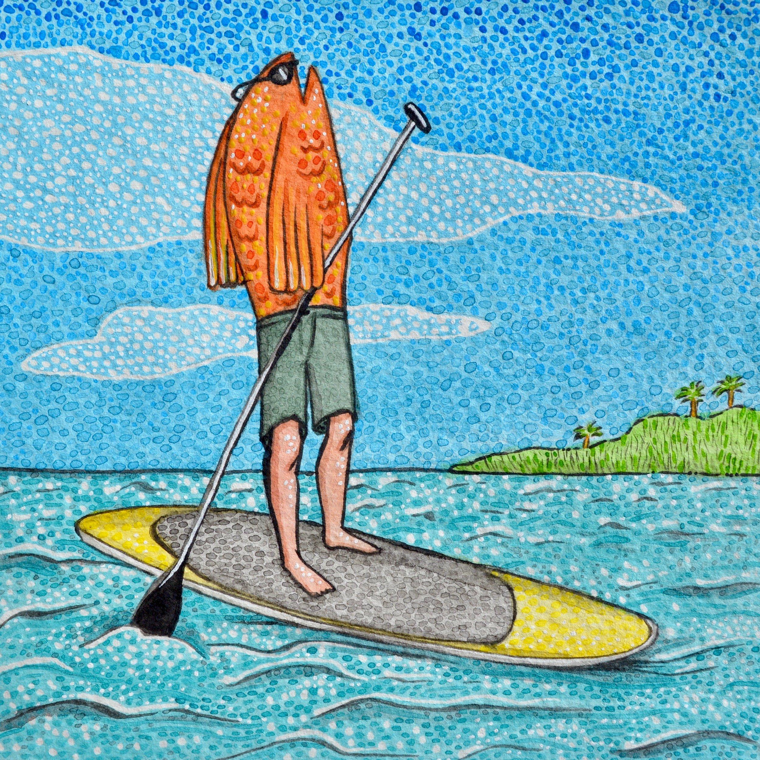 """""""El Pescado Está en una Tabla de Paddle"""""""