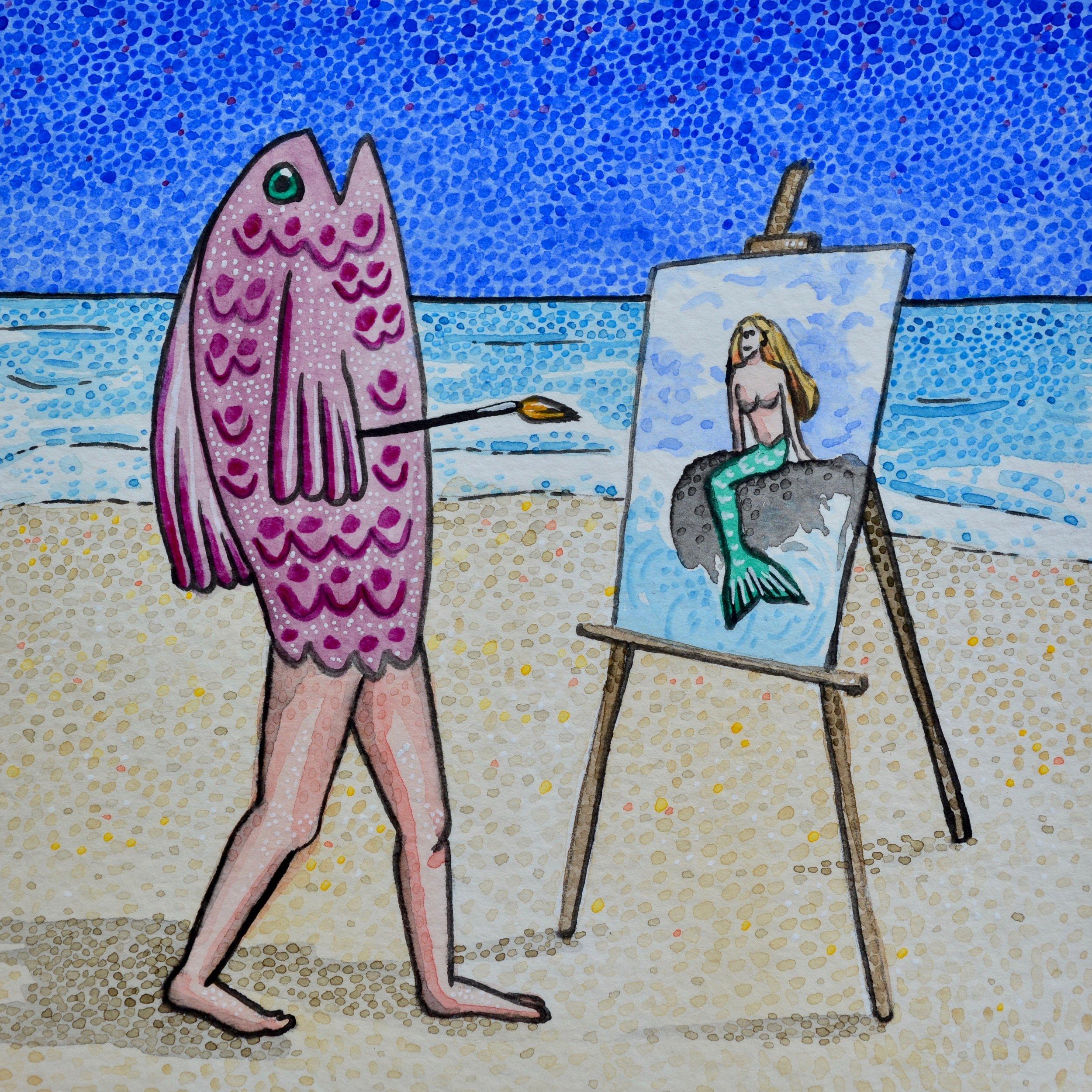 """""""El Pescado está Pintando una Sirena"""""""