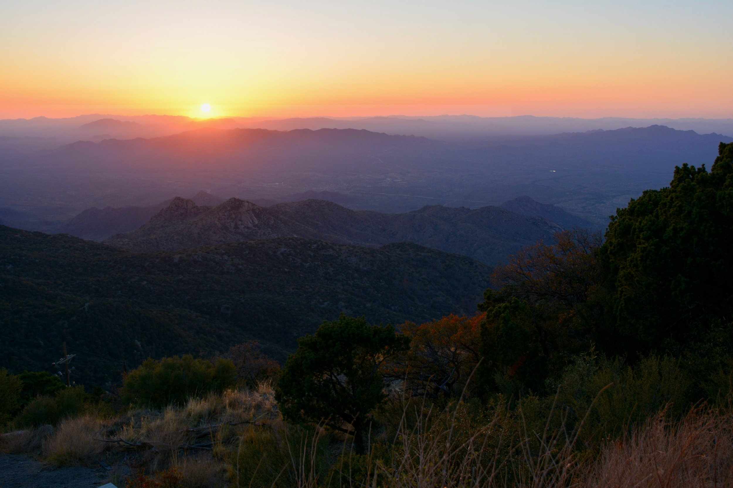 Sunset from atop Kitt Peak