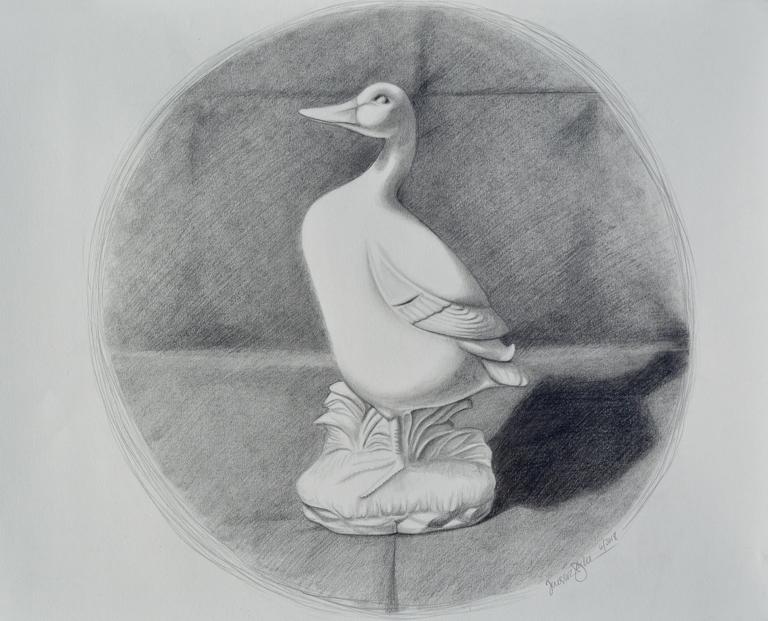 Duck Statue Still Life  (available for purchase as of the date of this blog posting)