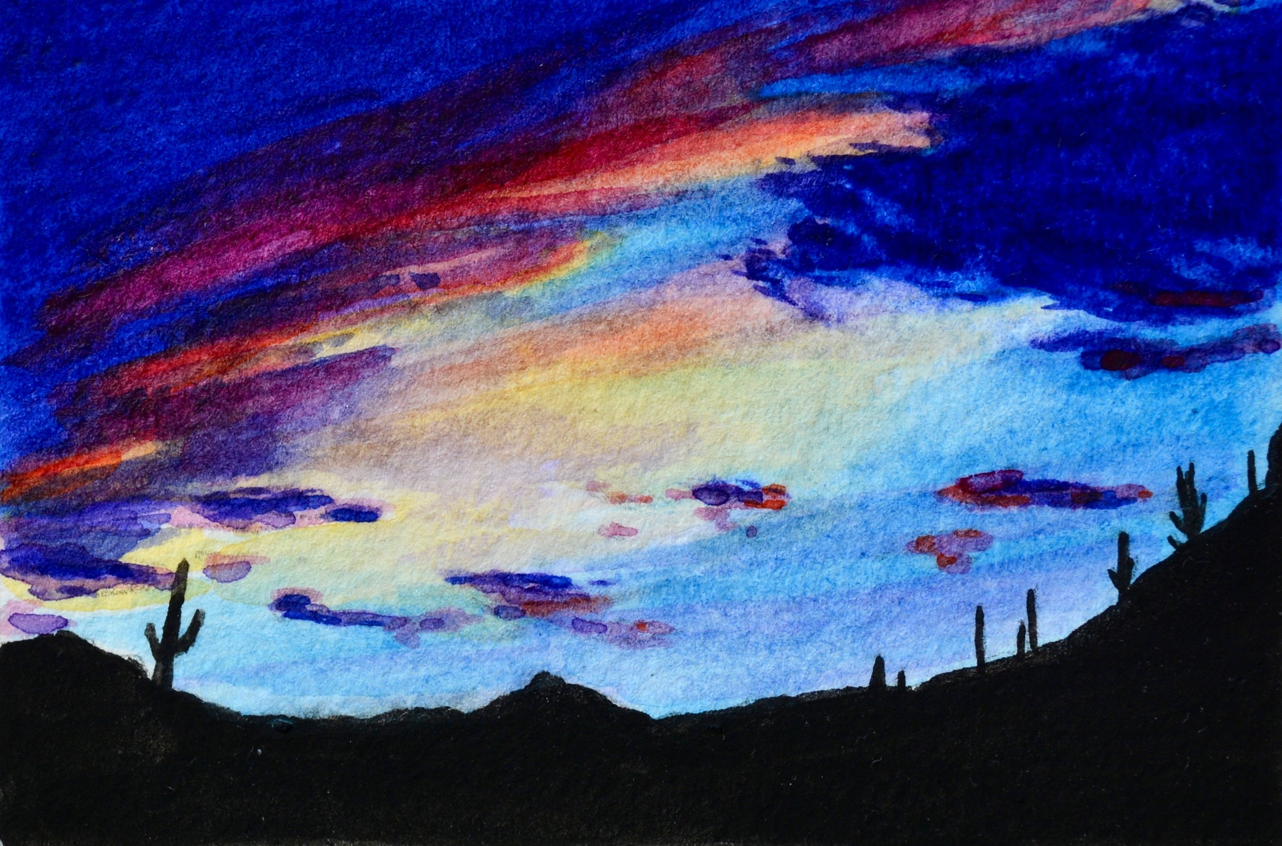 """Tortolita Mountains, Marana, Arizona: 7/28/18, 19:33:28"" SOLD"