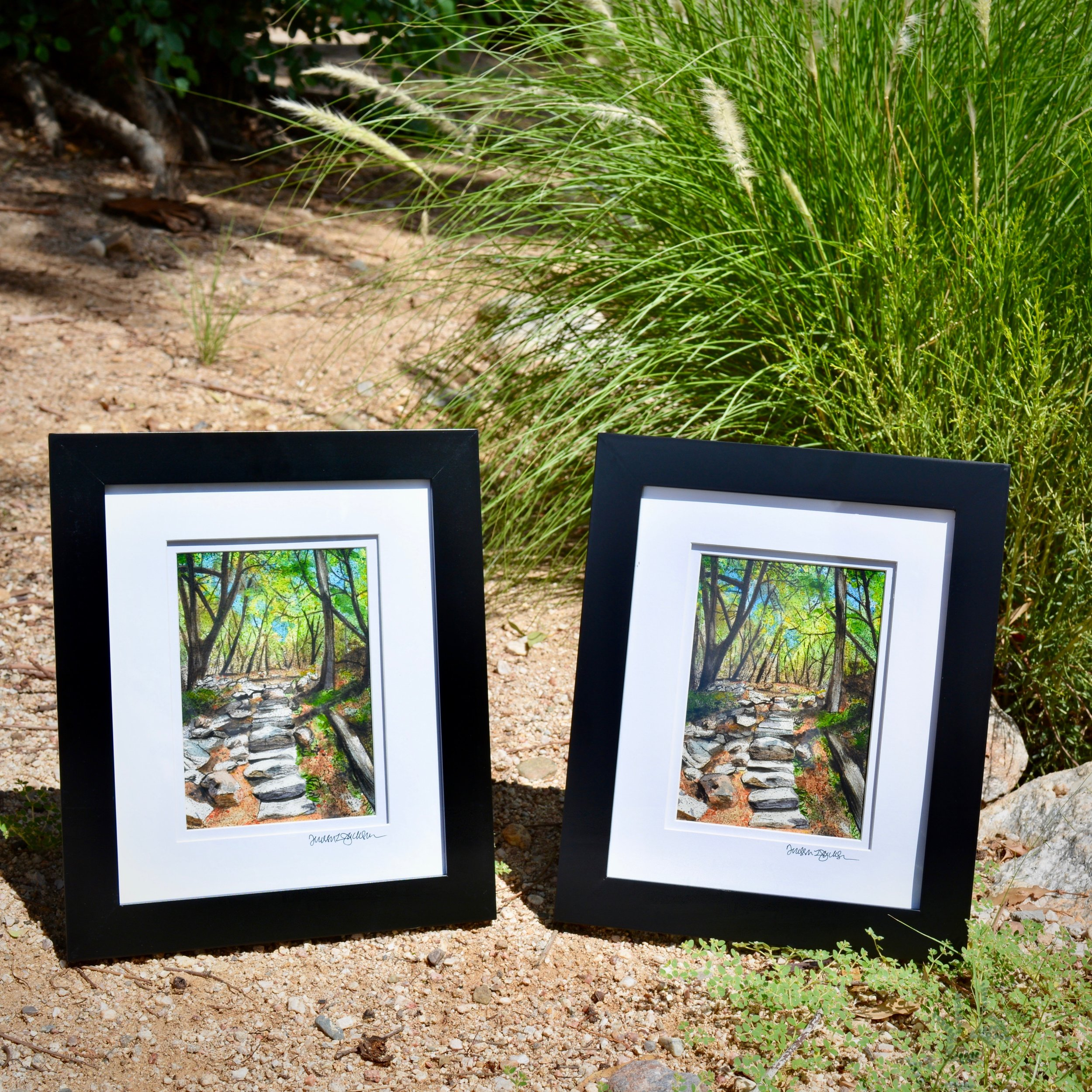 """The Land of Stories"" I & II, all framed up and ready to go to their new home"