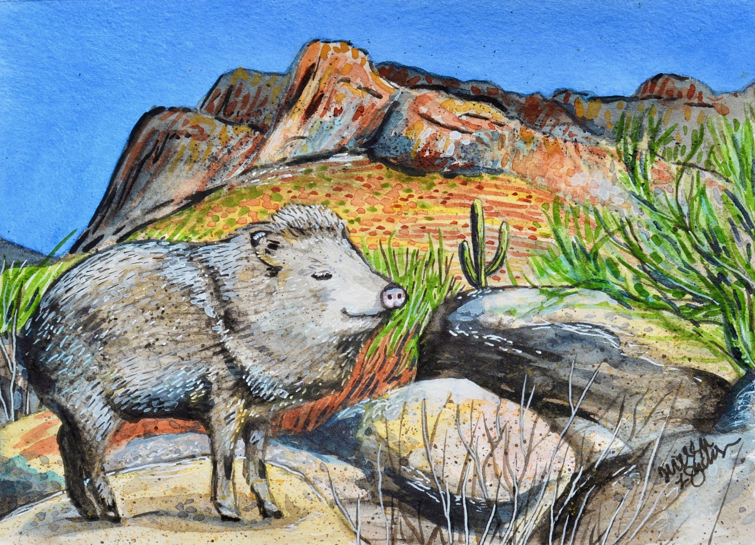 """The Joyful Javelina"" SOLD"