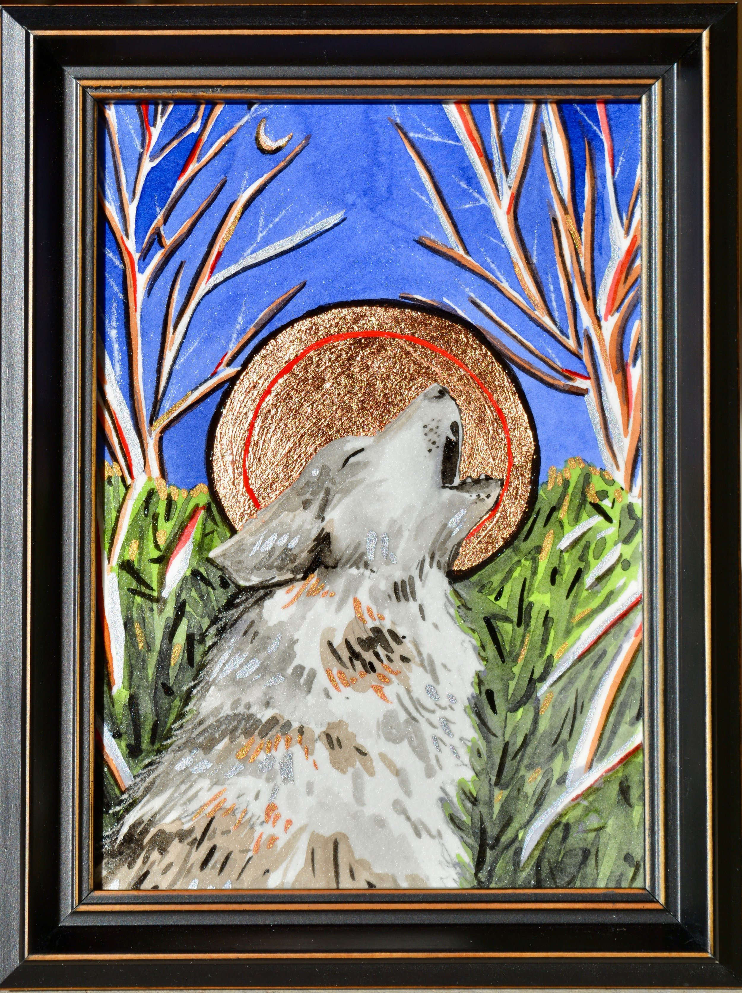 Sonoricons: Mexican Gray Wolf Available for purchase at  Raices Taller 222 Art Gallery & Workshop  during the month of December 2018