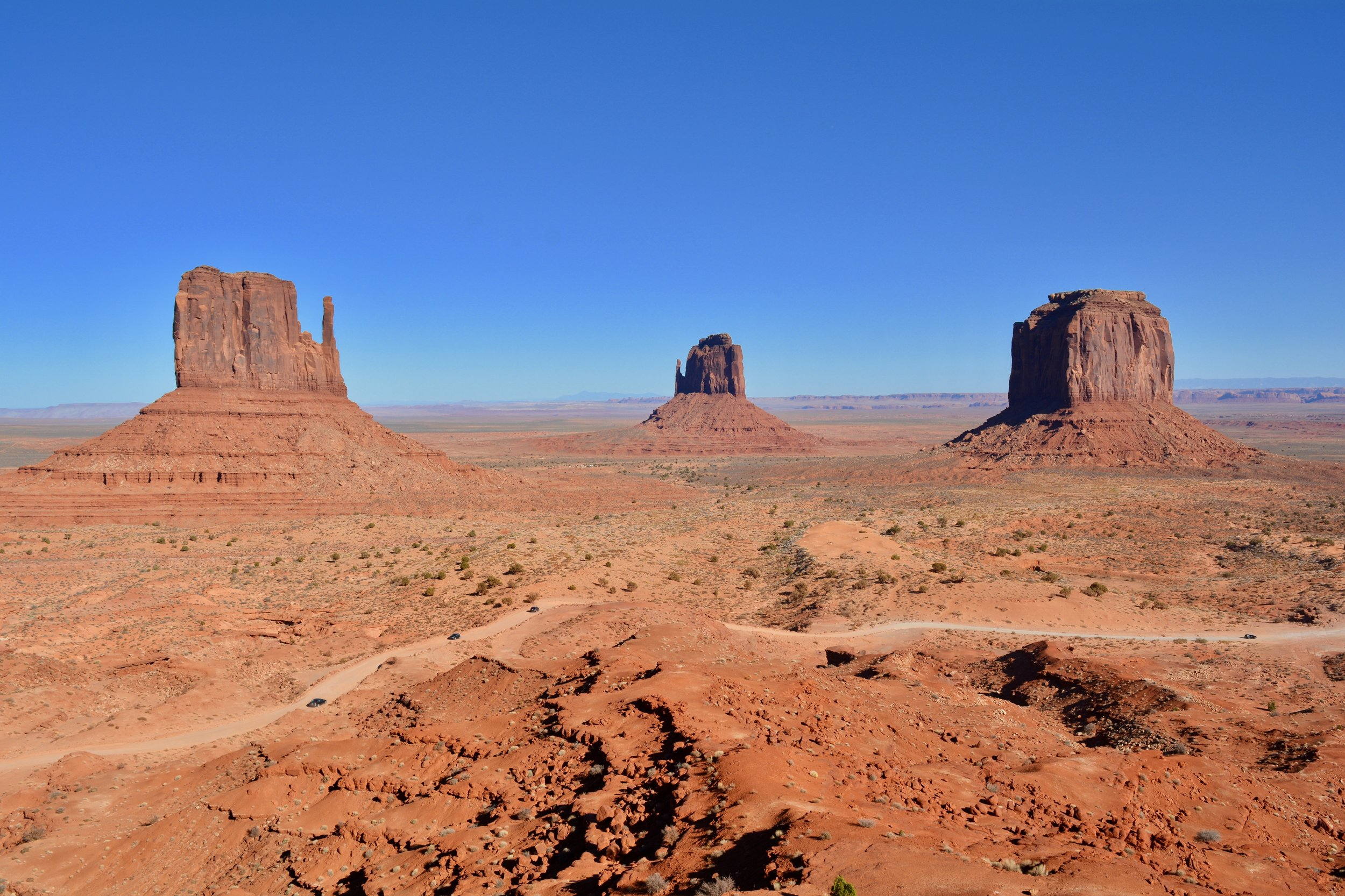 The iconic scenery at Monument Valley