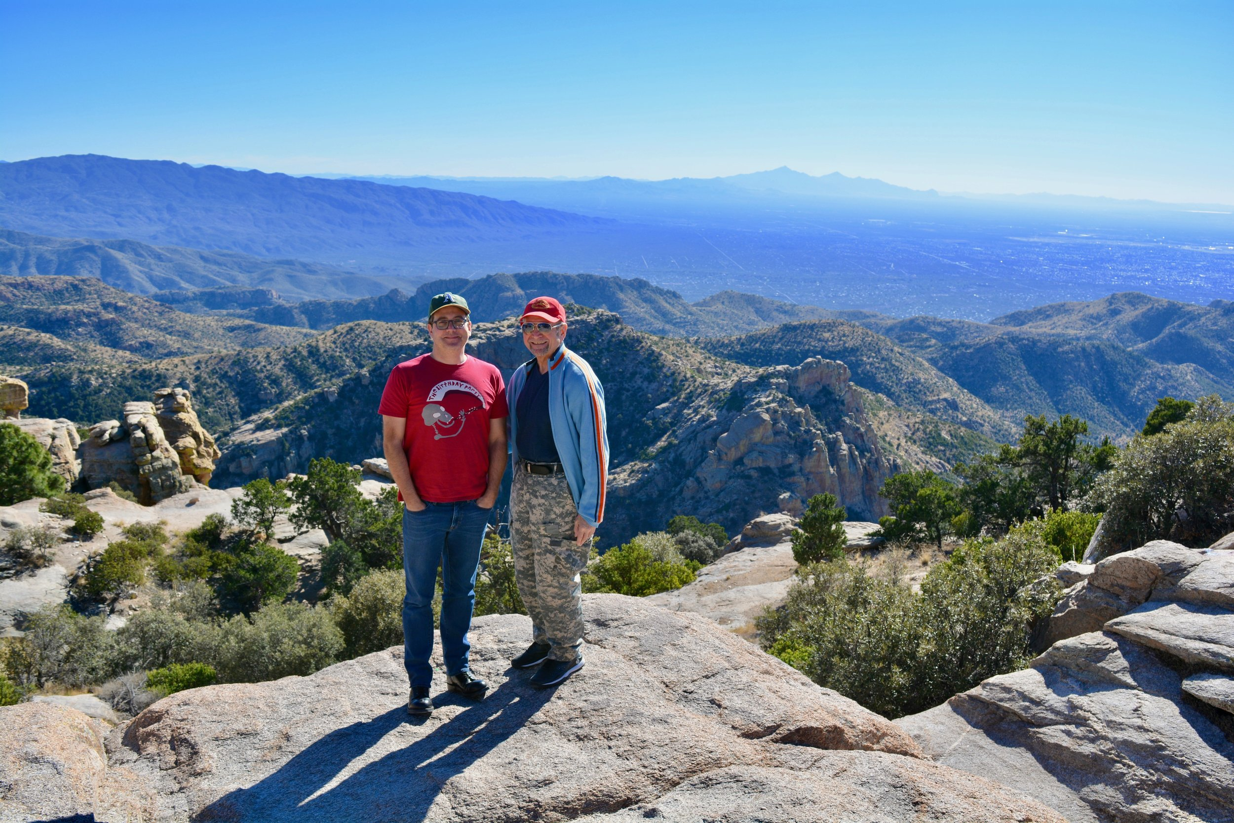 Aaron & Bobby on top of Mt. Lemmon