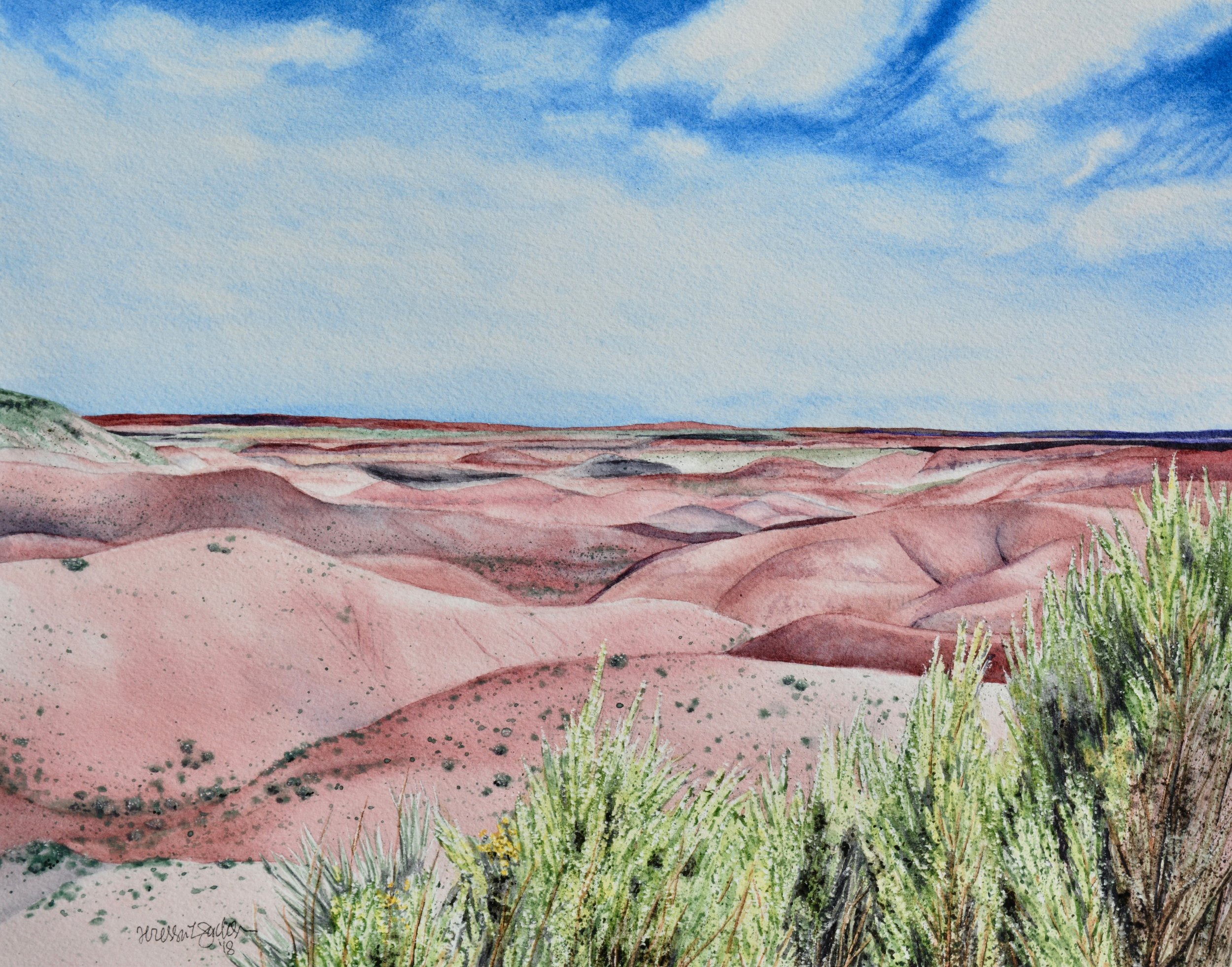 """Painted Desert²"" On exhibit at  Raices Taller 222 Art Gallery  until February 23, 2019 14x11"""
