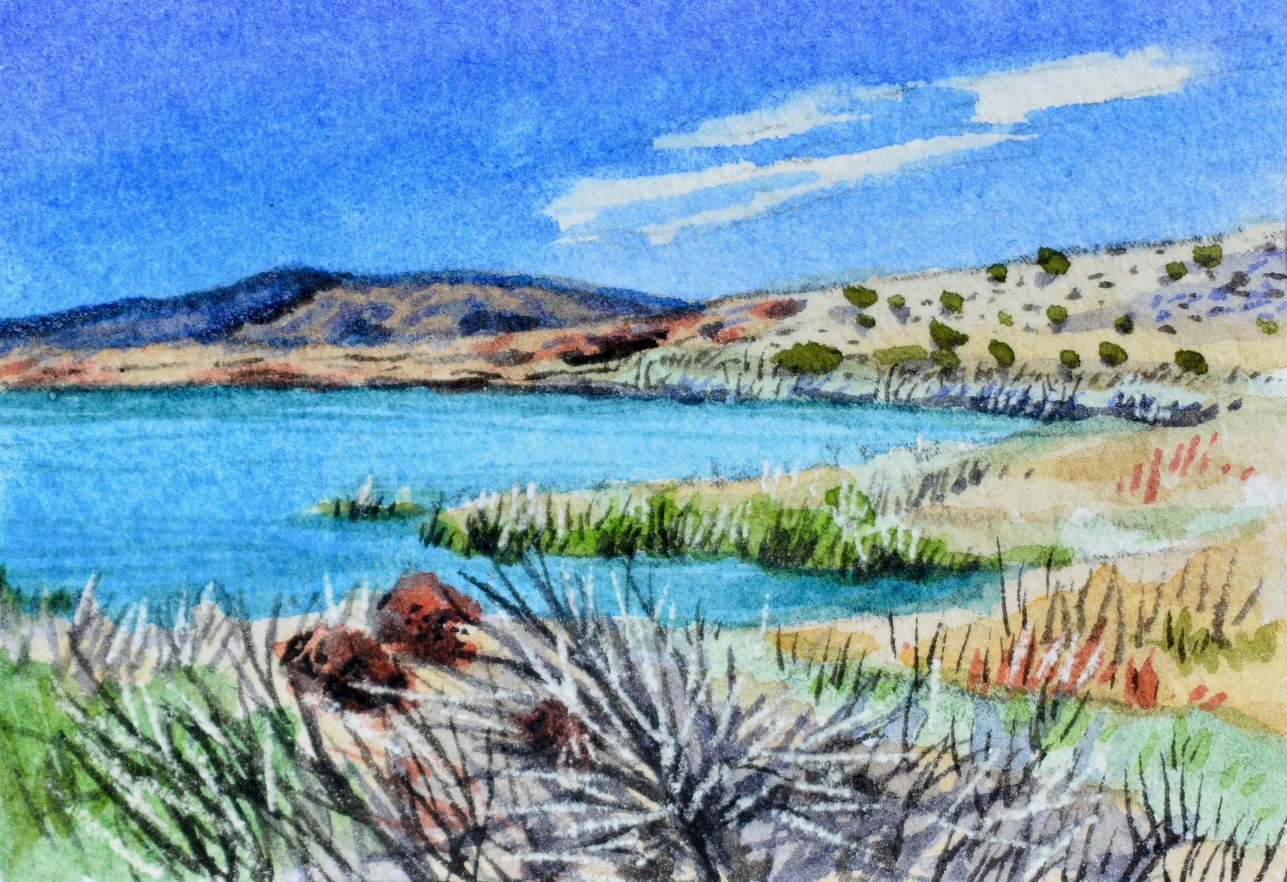 """Havasu National Wildlife Refuge, Arizona: 3/3/19, 12:26:27""  For sale as of this blog posting  3x2"""