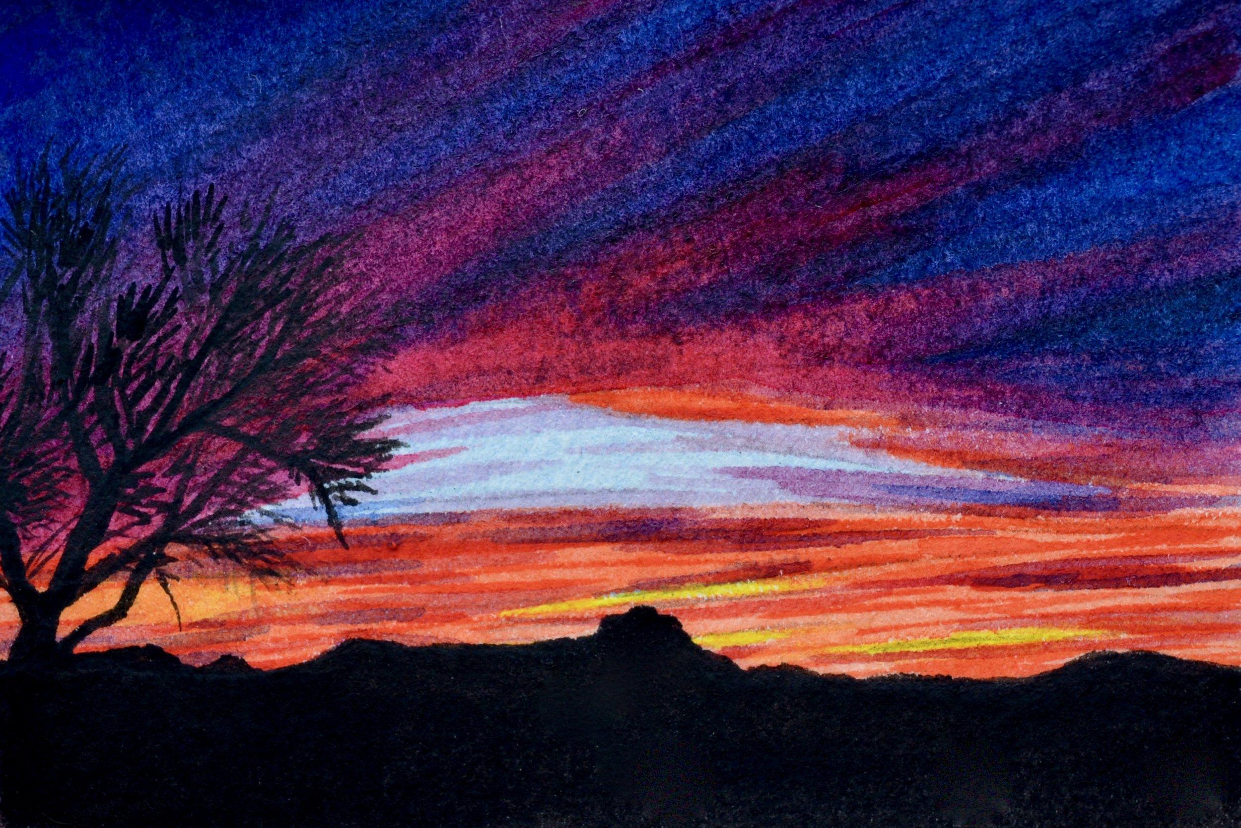 """""""Tucson, Arizona: 3/7/19, 18:39:40"""" SOLD 3x2"""""""