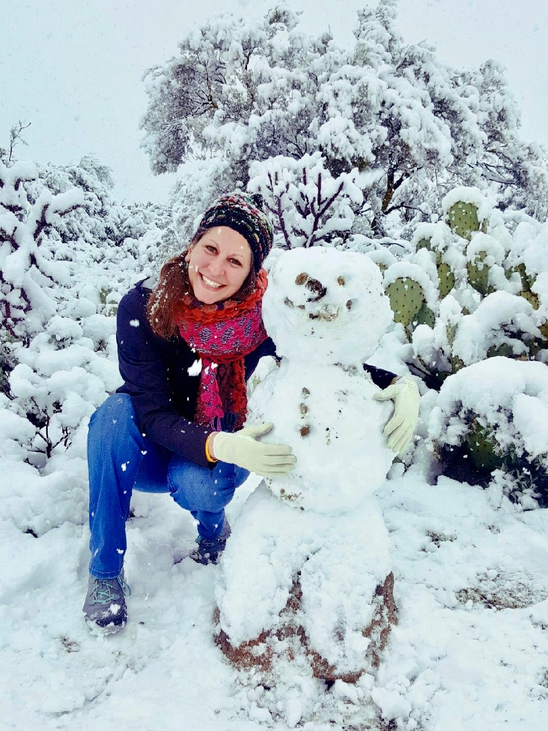 My snow friend and me