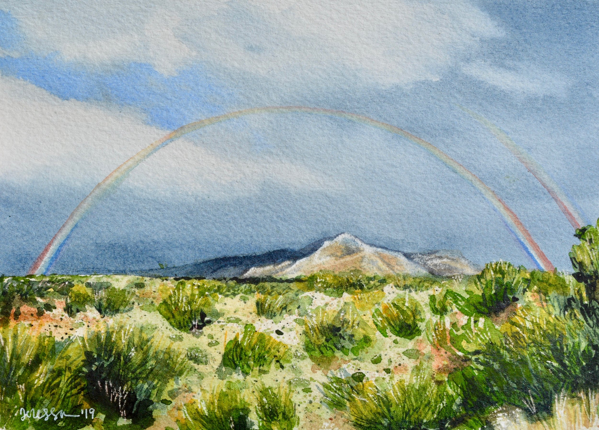 """Pusch Ridge Rainbow"" SOLD (Commission) 7x5"" on watercolor paper"