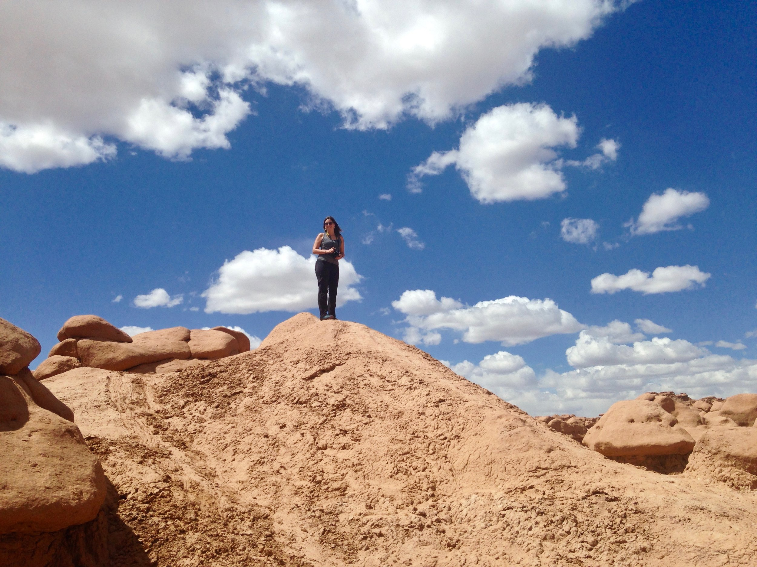 Me at Goblin Valley in 2017 (photo credit: Susan Jackson)