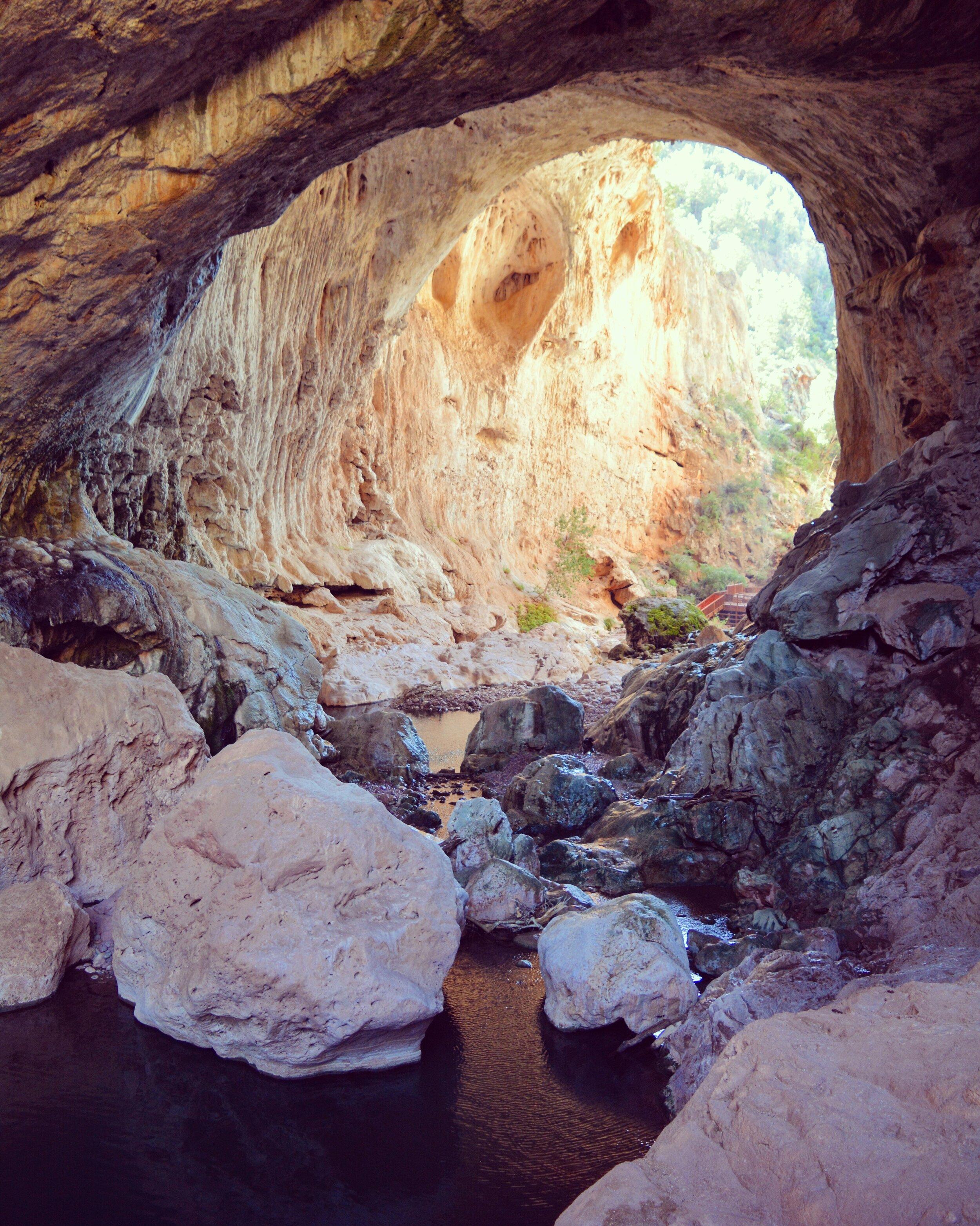 Underneath Tonto Natural Bridge
