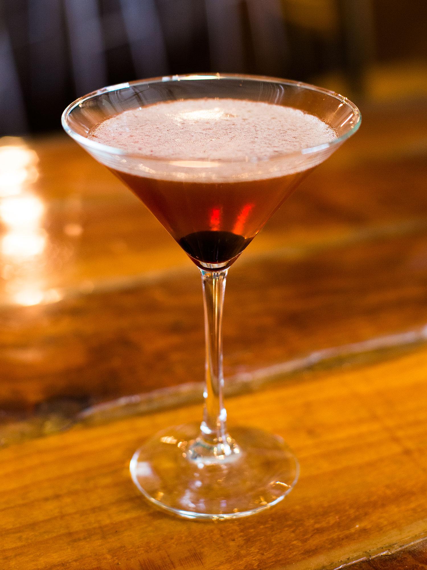 Feisty Manhattan: Feisty bourbon (distilled in Colorado), Contratto Rosso & Luxardo cherry