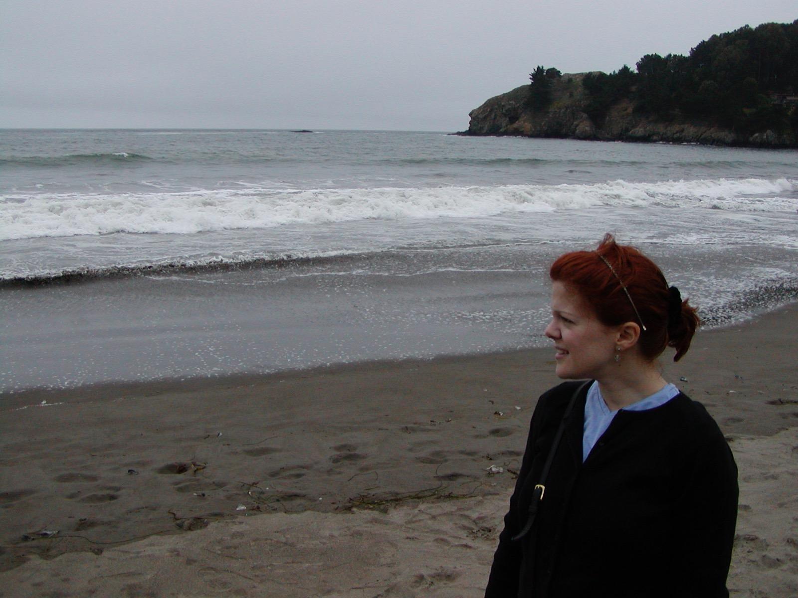 Melissa at Muir Beach near San Francisco, circa July 2005