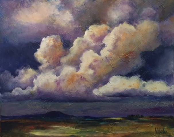 """""""Troubled Sky"""" by Vikki Reed -http://vikkireedwatercolors.com"""