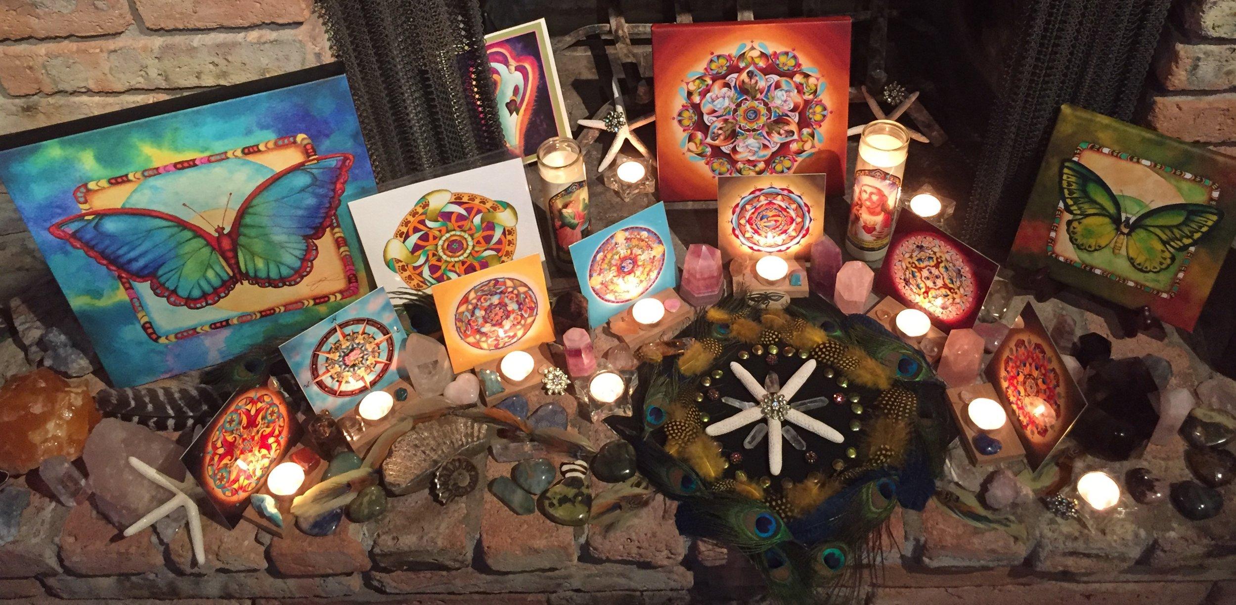 Vikki's altar for Melissa.