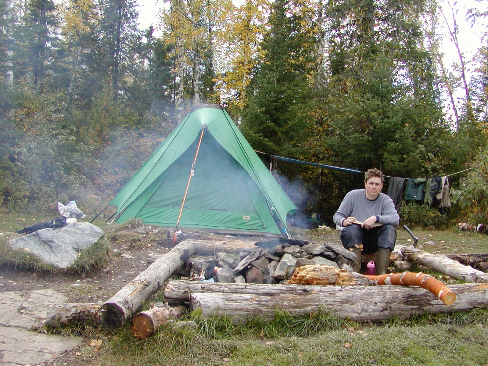Camping in the Minnesota boundary waters, 2006