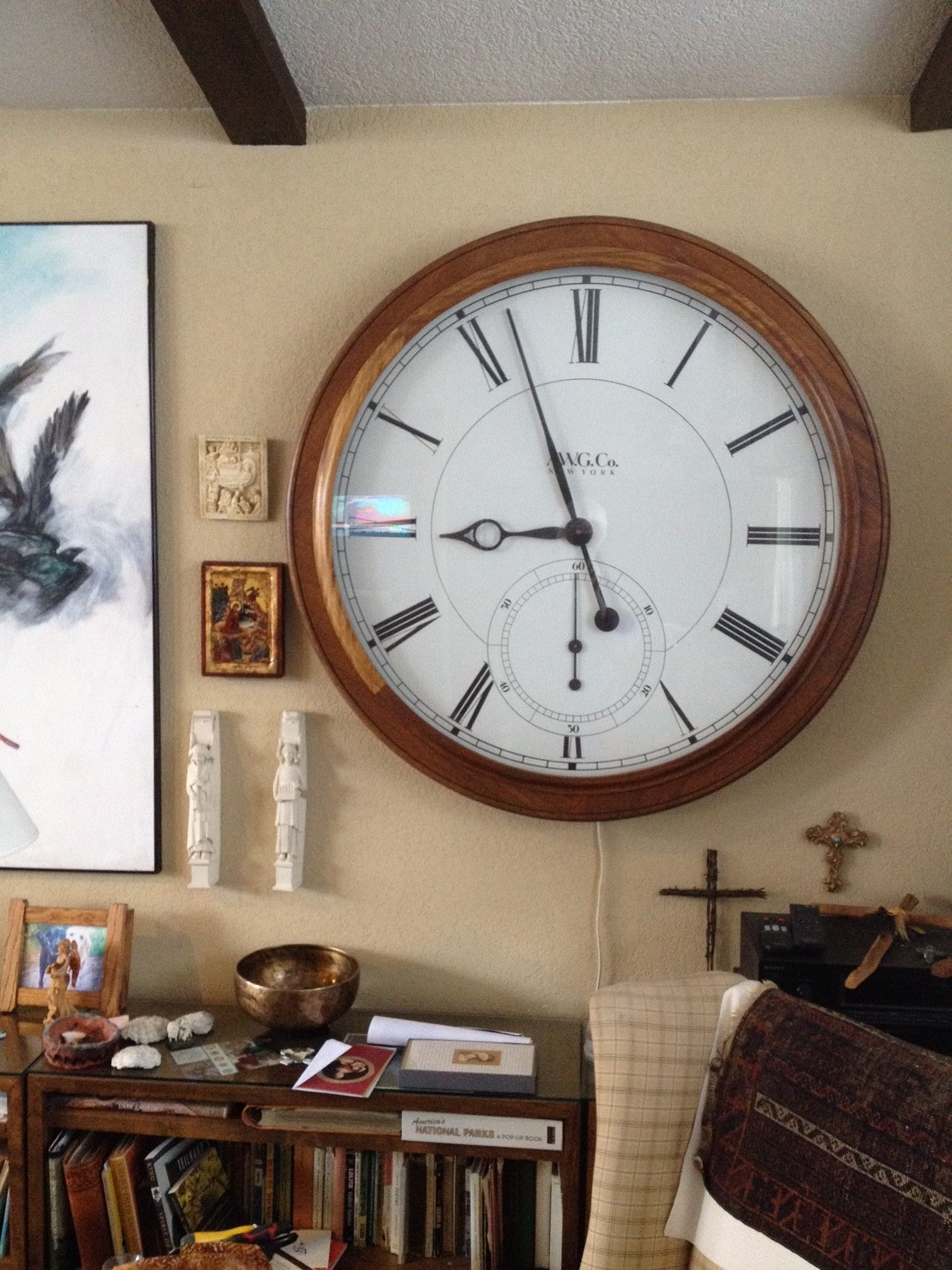 The Brian Gilliam clock at my parents house.
