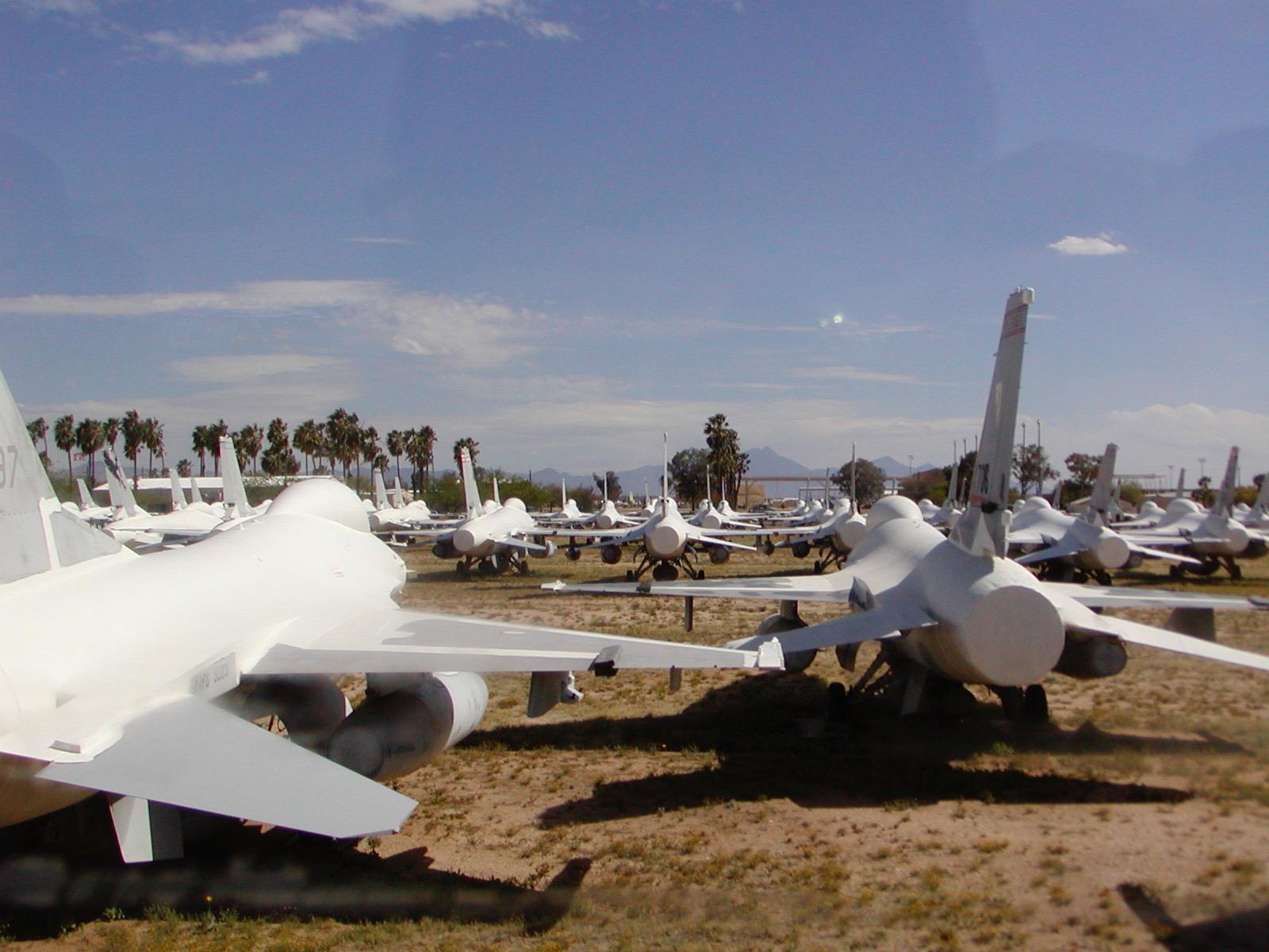 F-16s at the 309 AMARC Boneyard