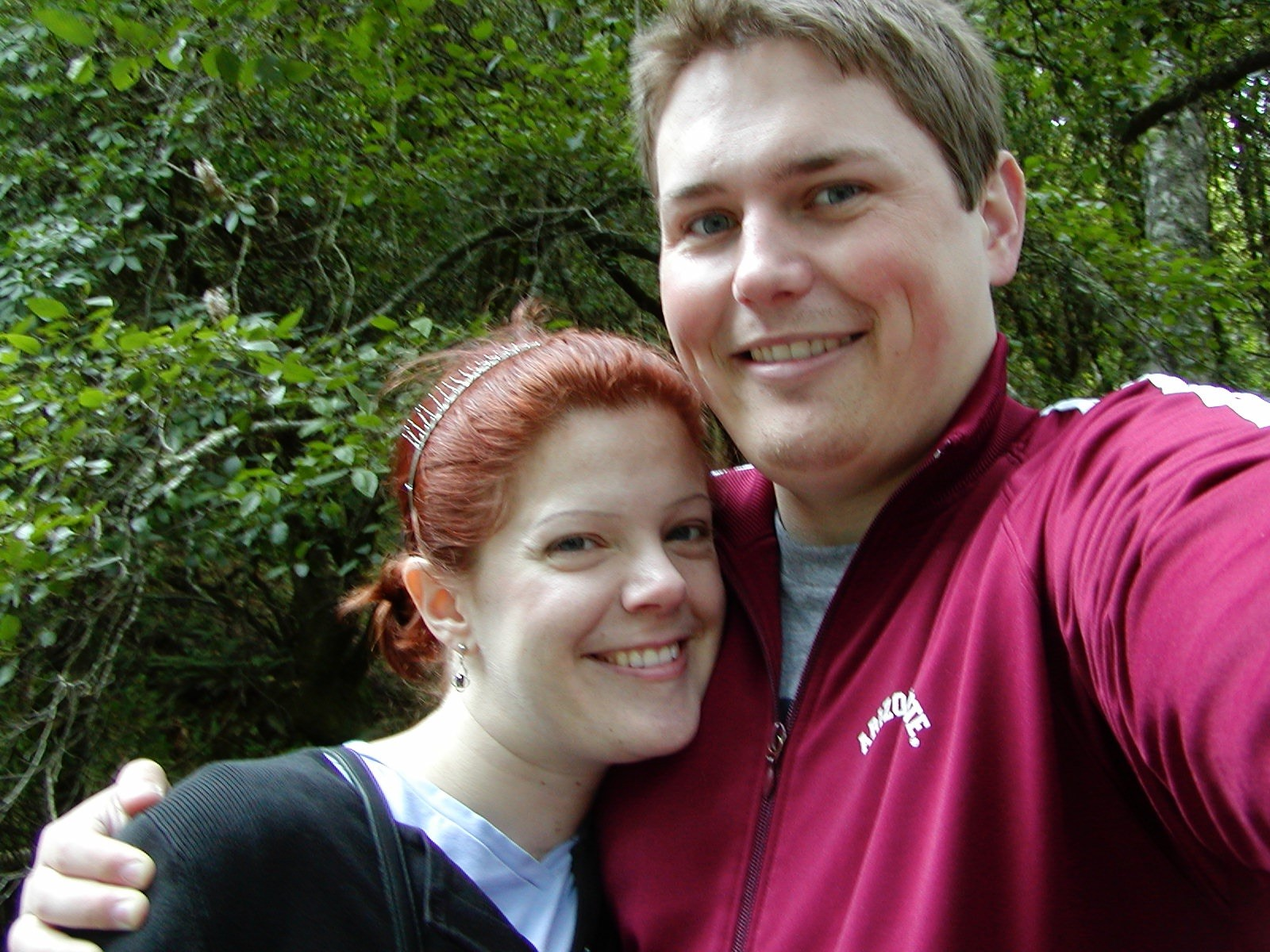 Melissa and I on our honeymoon at the Japanese Tea Garden in San Francisco, June, 2005.