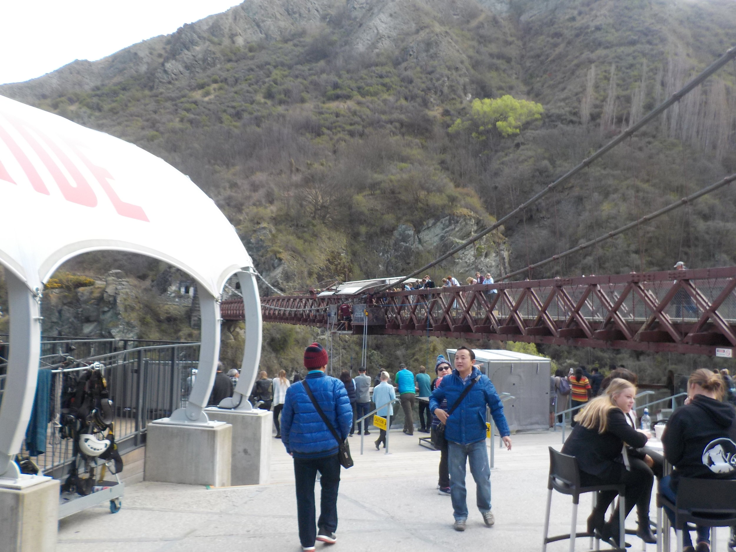 Viewing area of the world's first commercial bungy