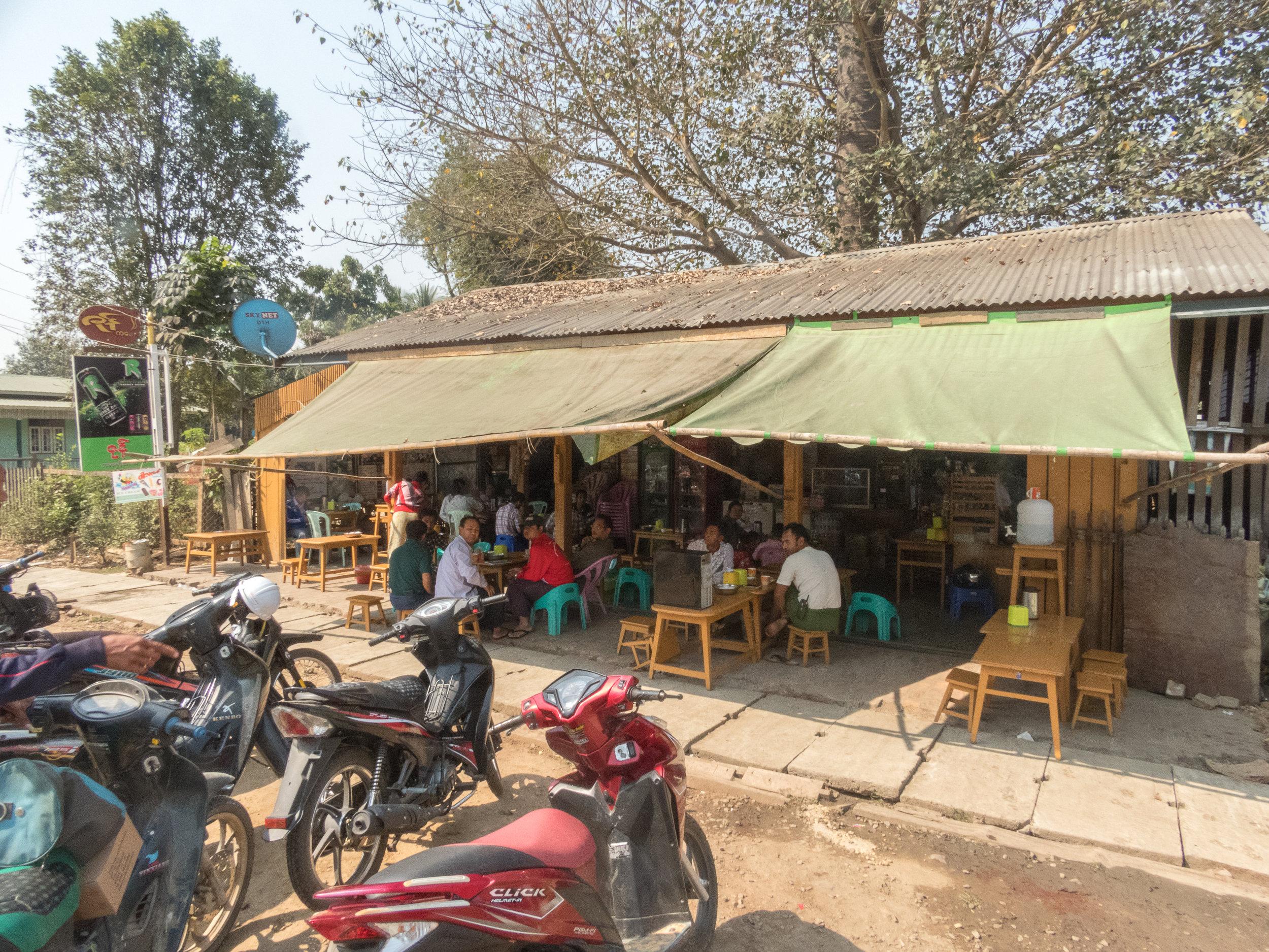 The tea shop where I met Mo and Nyo Ko