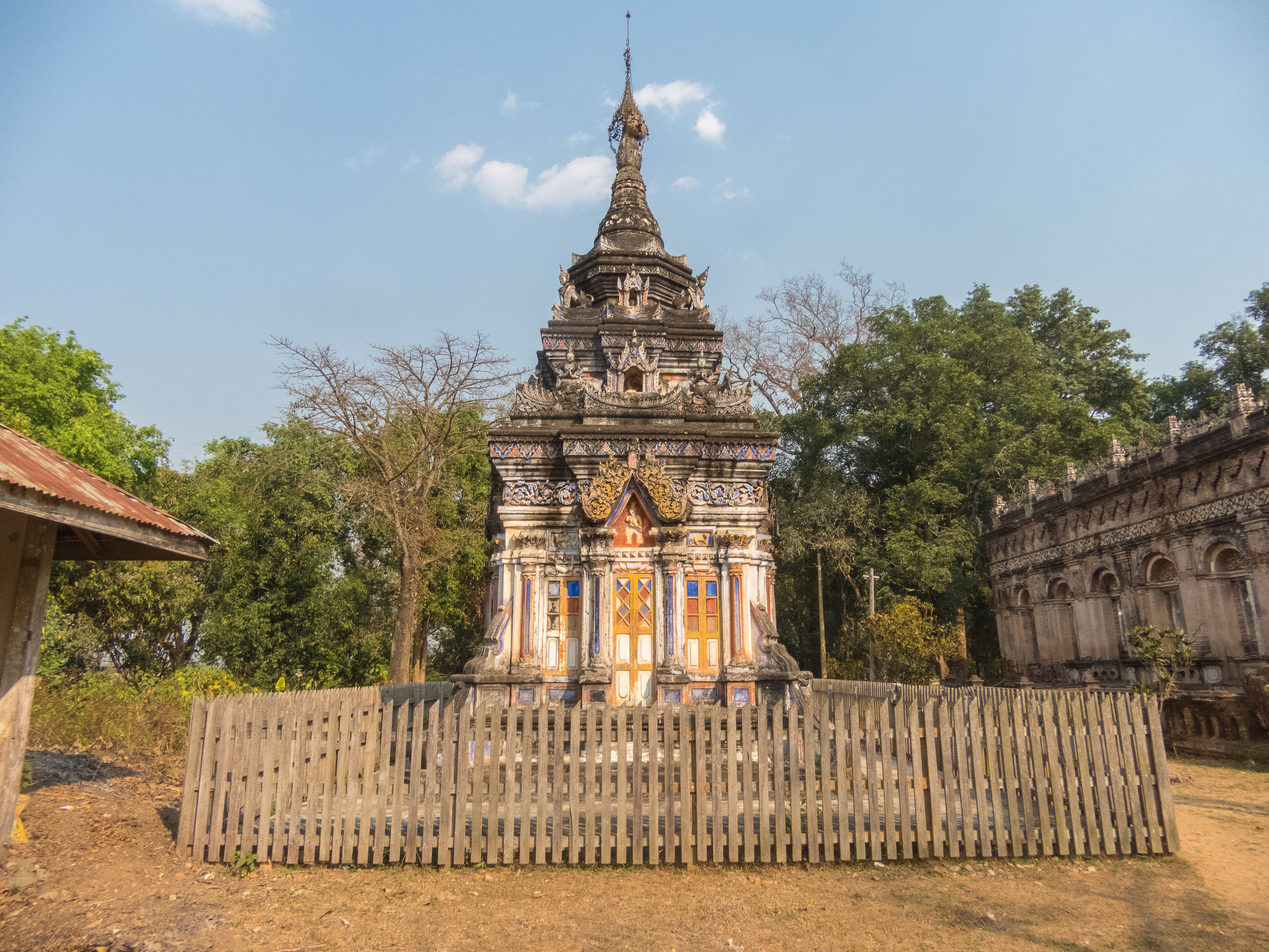Here's another cool structure. I think it is a stupa - where Buddhist relics are kept.