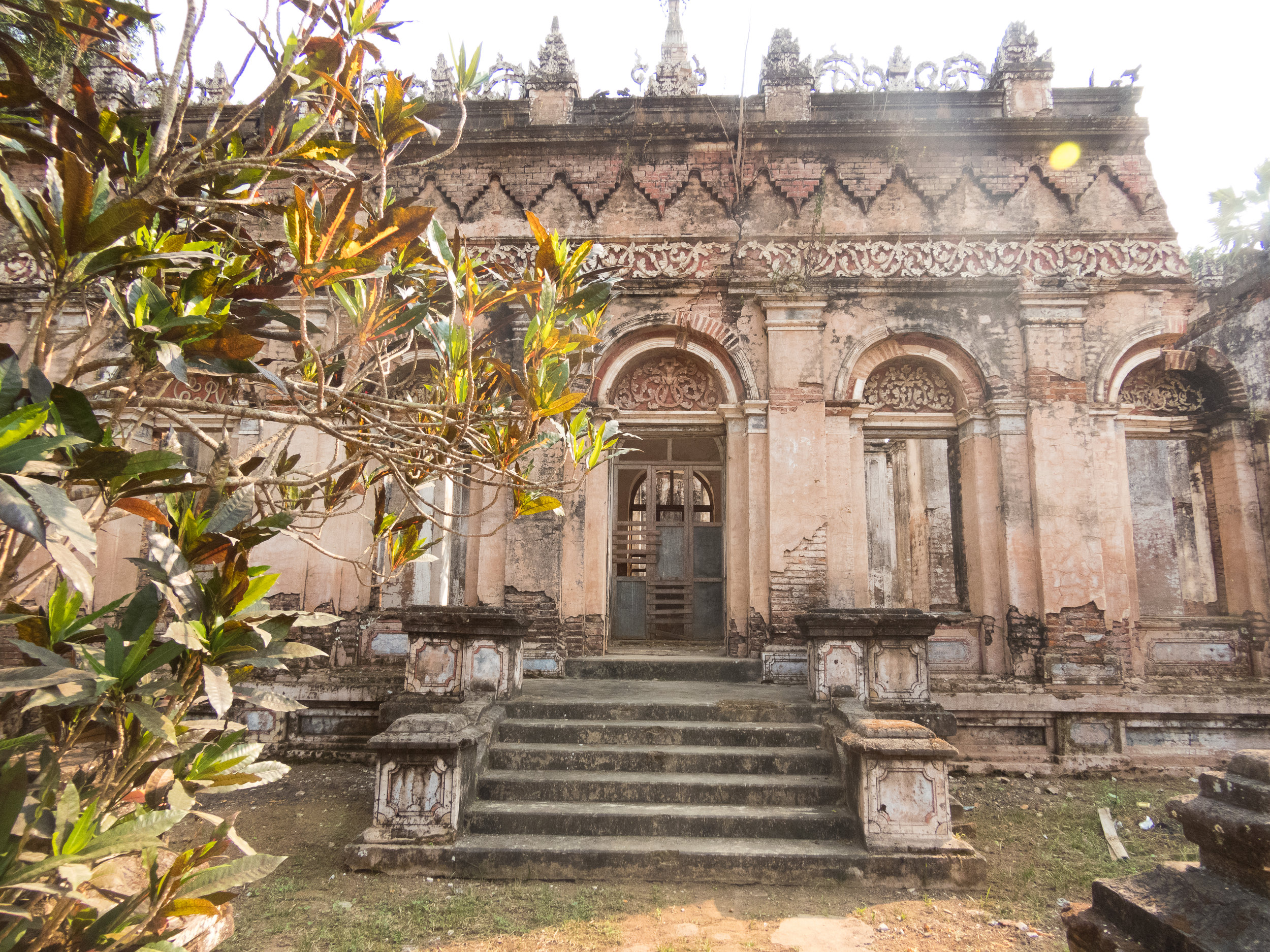 Here's the monastery that got damaged in an earthquake. It is no longer used.